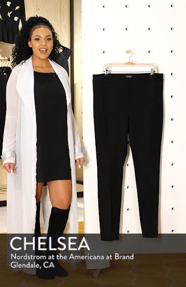 Stretch Knit Straight Leg Trousers, sales video thumbnail