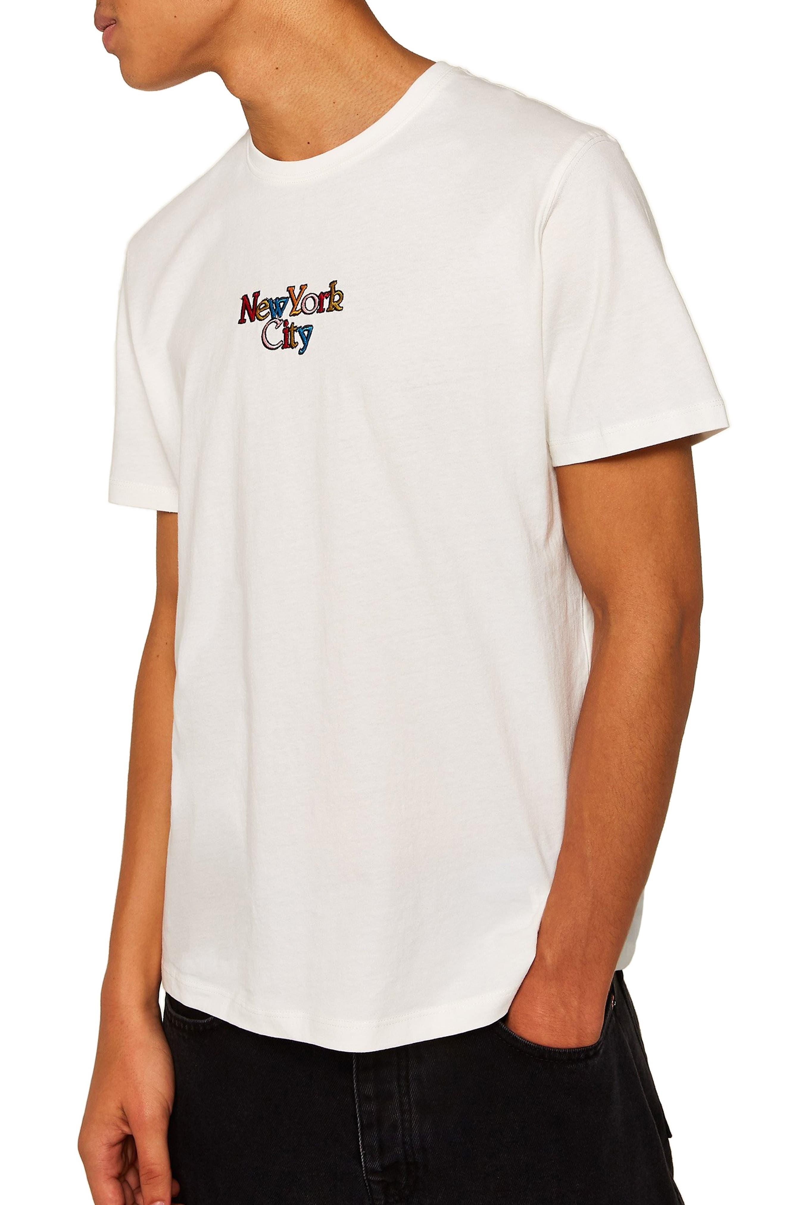 New York City Graphic T-Shirt,                             Main thumbnail 1, color,                             CREAM