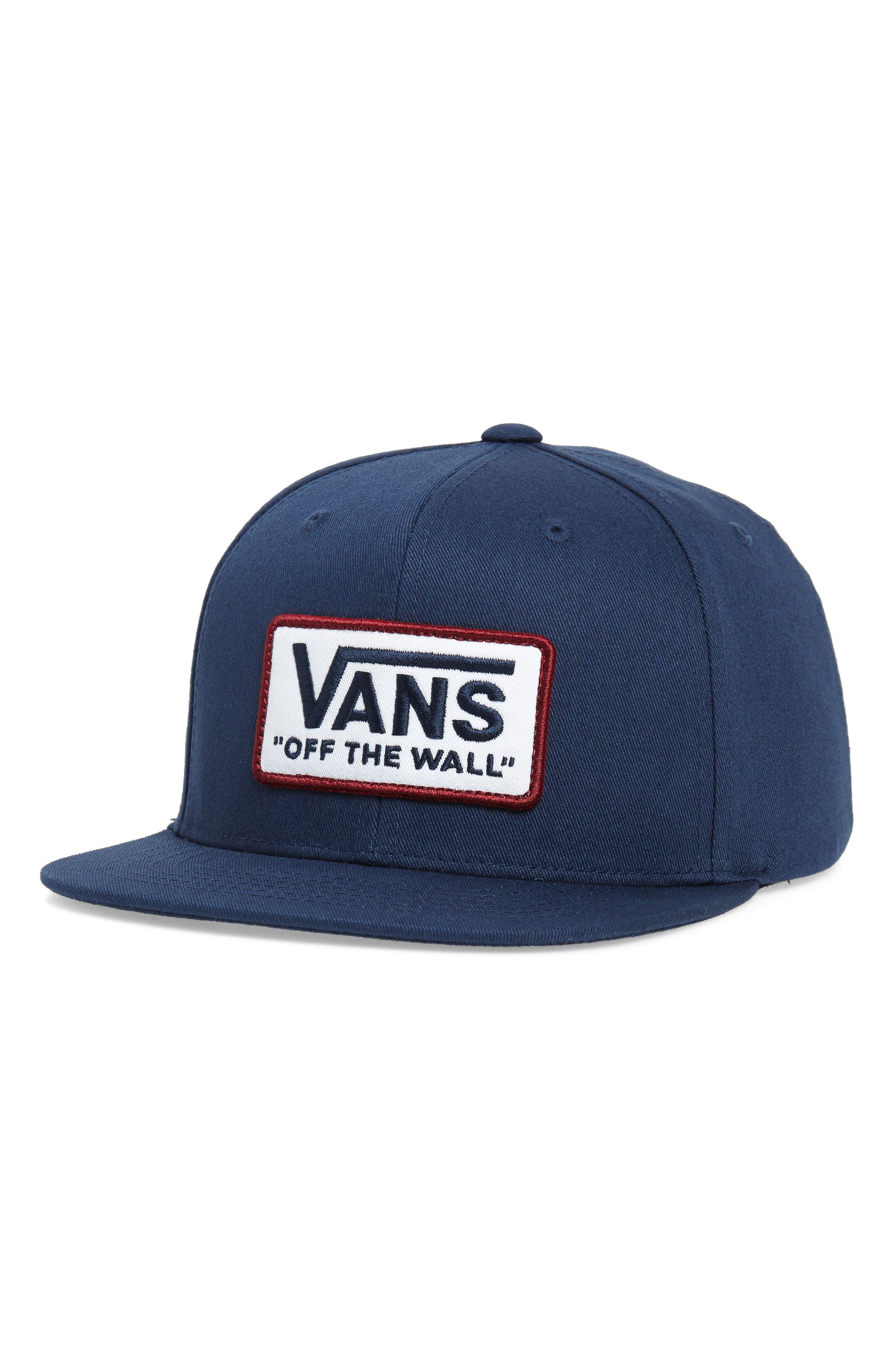 VANS Whitford Snapback Hat, Main, color, DRESS BLUES
