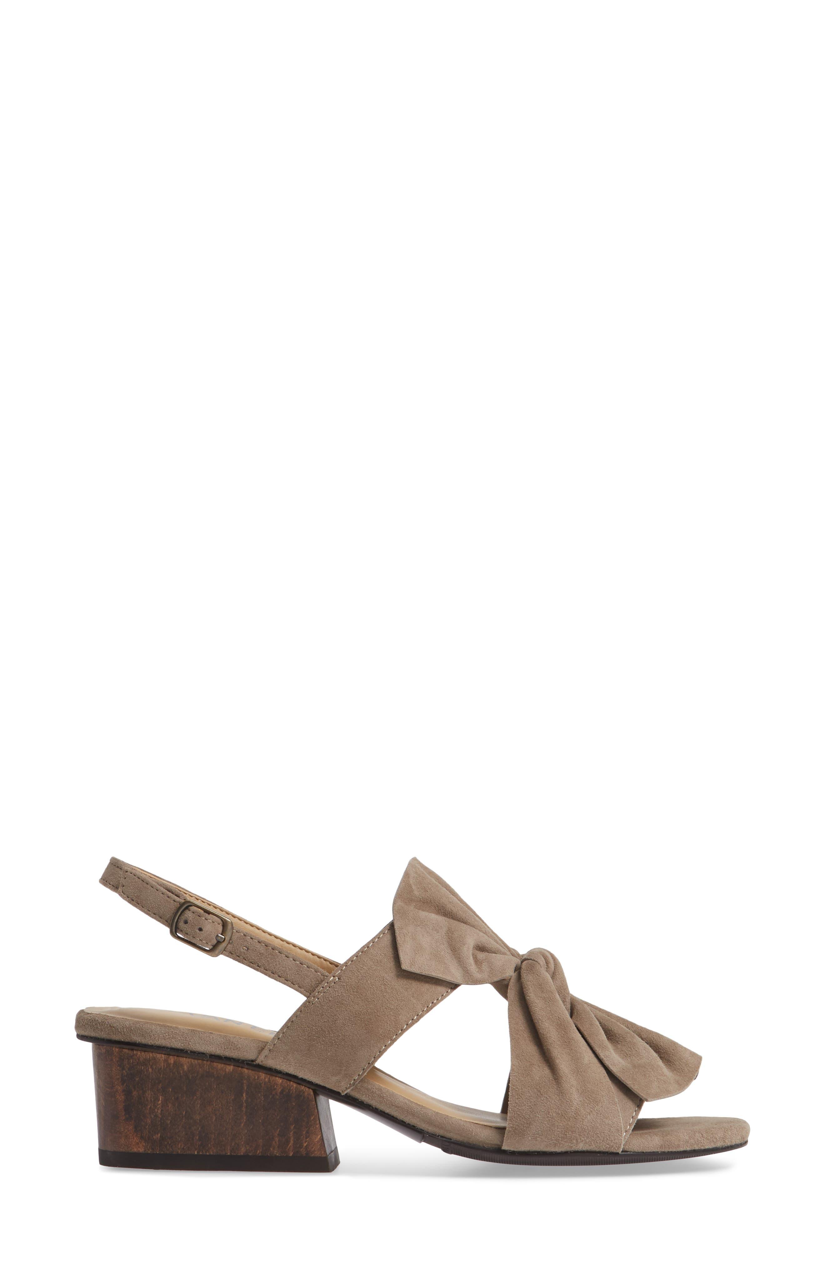 Camey Slingback Sandal,                             Alternate thumbnail 3, color,                             TRUFFLE SUEDE