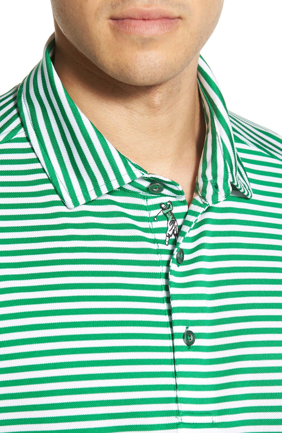 XH2O Feed Stripe Stretch Golf Polo,                             Alternate thumbnail 63, color,