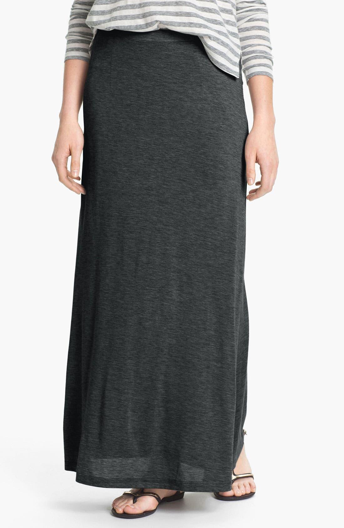 EILEEN FISHER Silk & Cotton Jersey Maxi Skirt, Main, color, 025