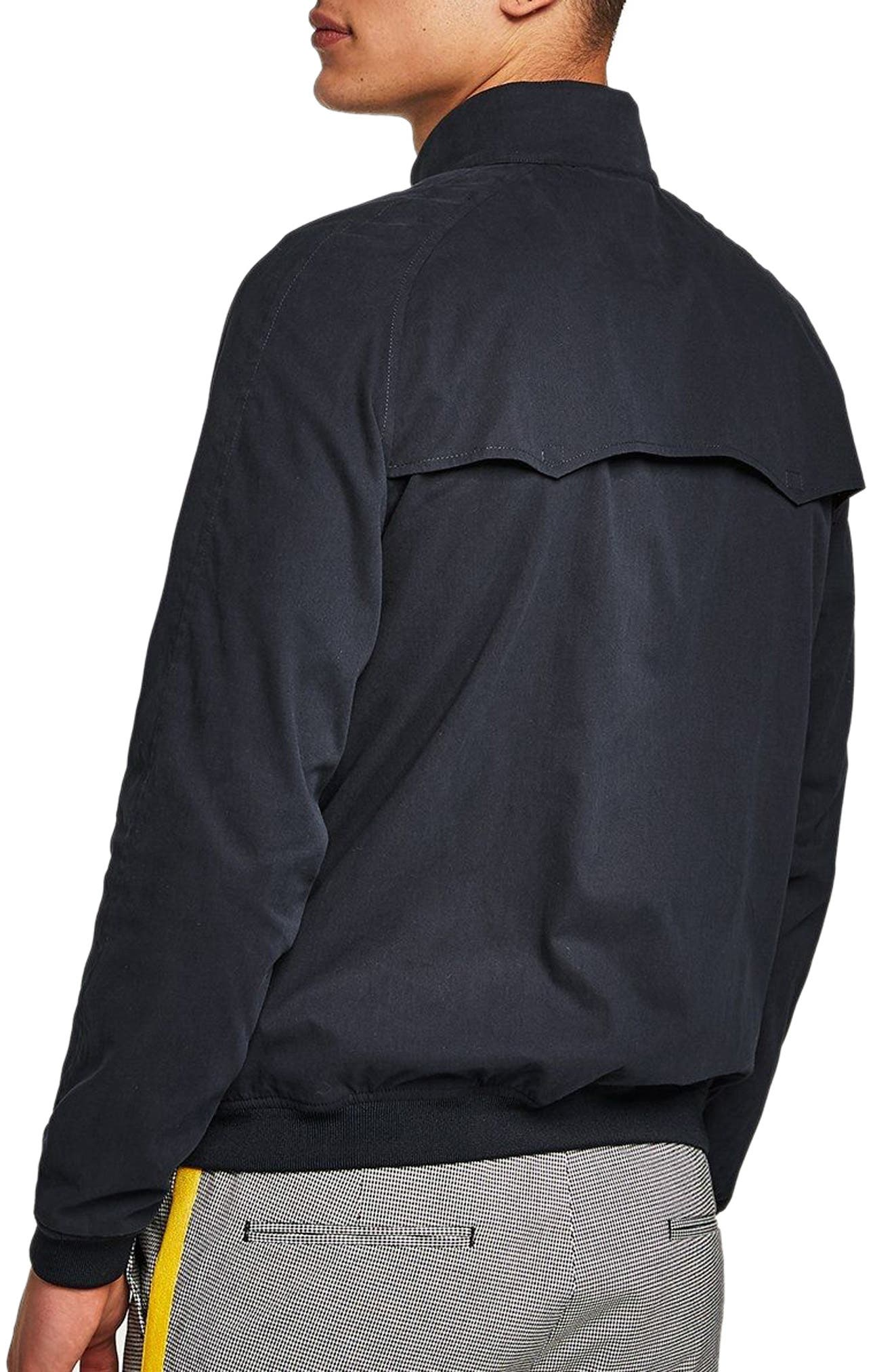 Harrington Jacket,                             Alternate thumbnail 2, color,                             DARK BLUE