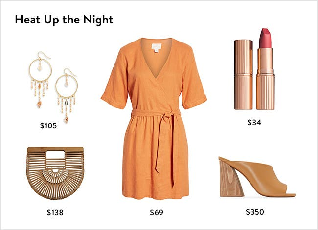 Heat up the night: women's night-out clothing, accessories, shoes and more.