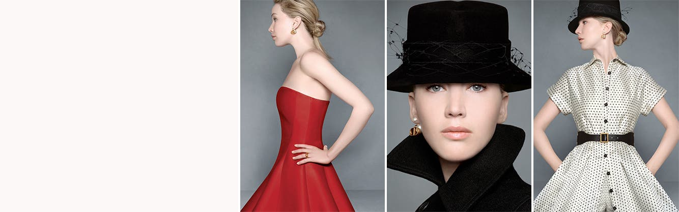 Women's Dior clothing, makeup and fragrance.