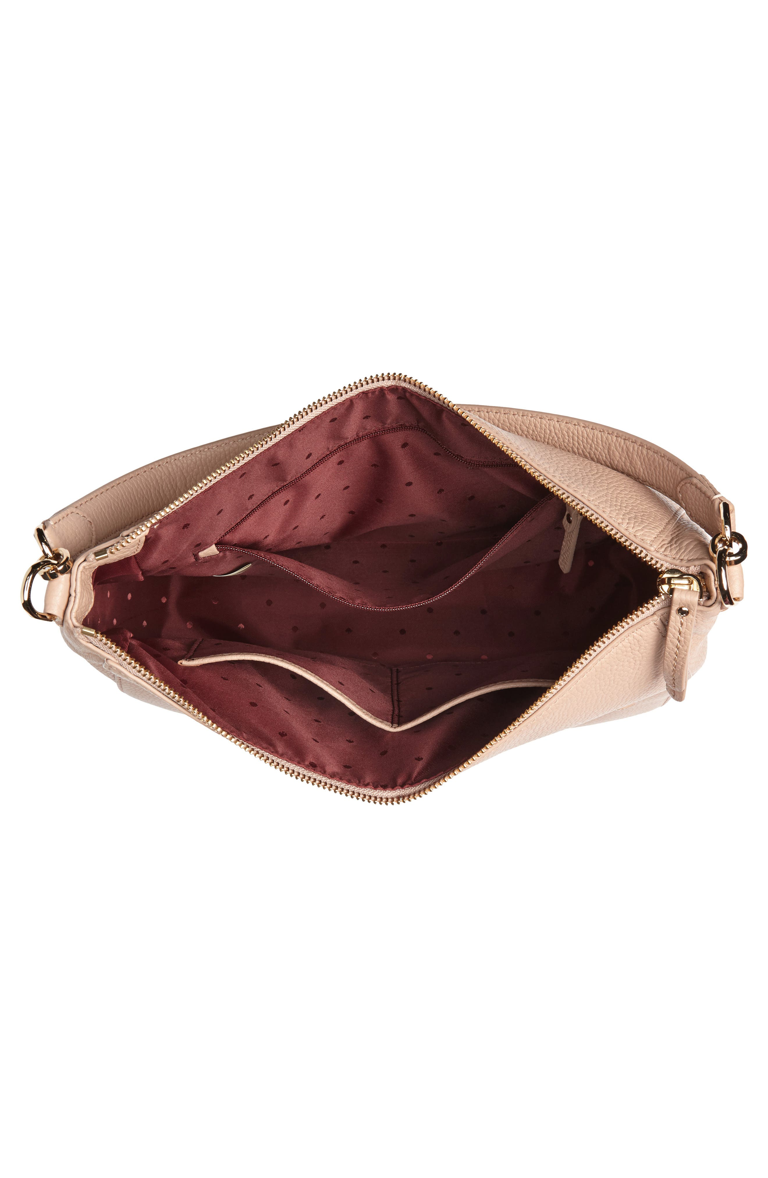 trent hill - quincy leather hobo,                             Alternate thumbnail 8, color,