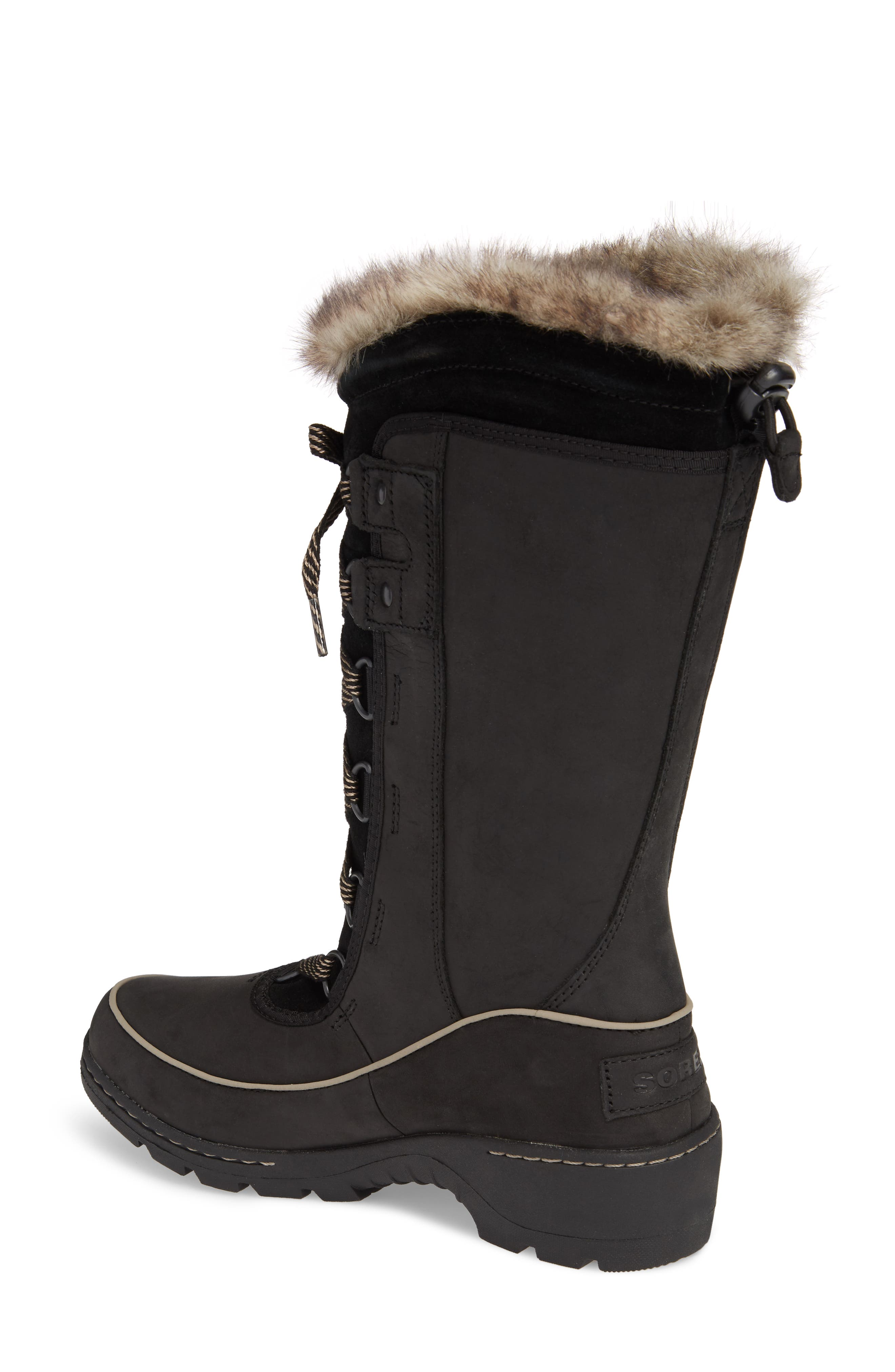 Tivoli II Insulated Winter Boot with Faux Fur Trim,                             Alternate thumbnail 2, color,                             010