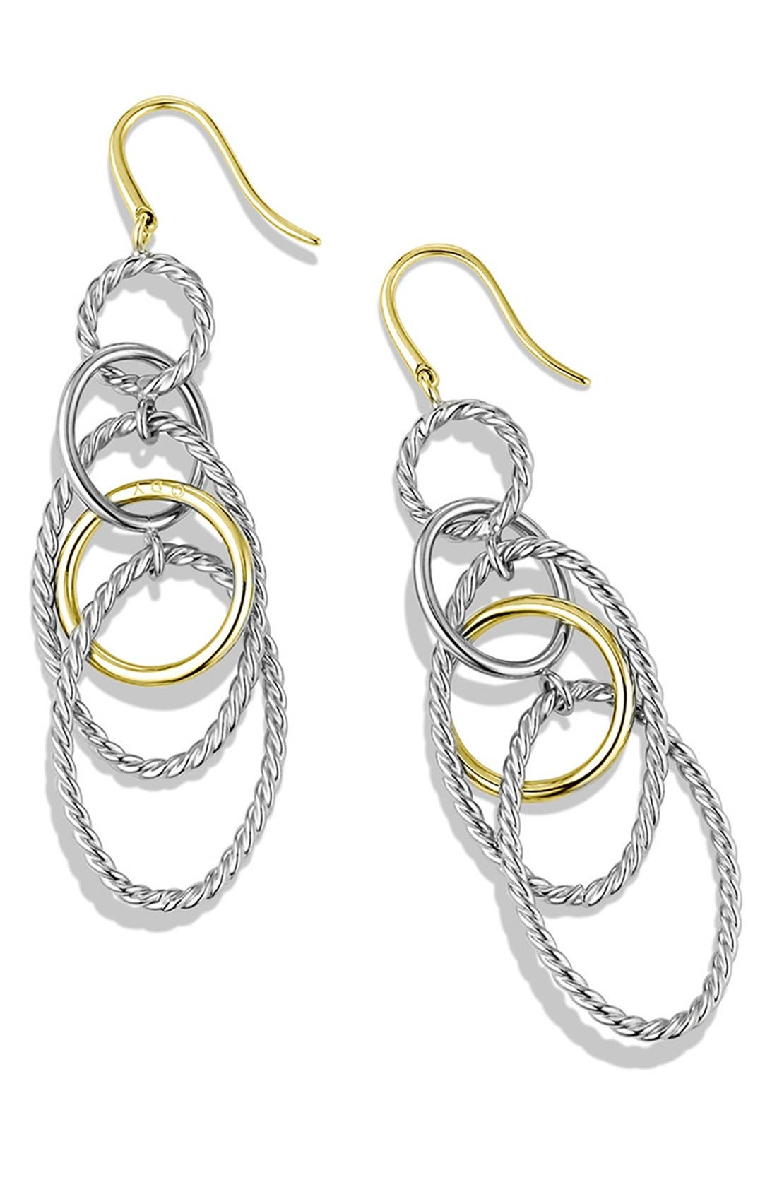'Mobile' Large Link Earrings with Gold,                             Alternate thumbnail 2, color,
