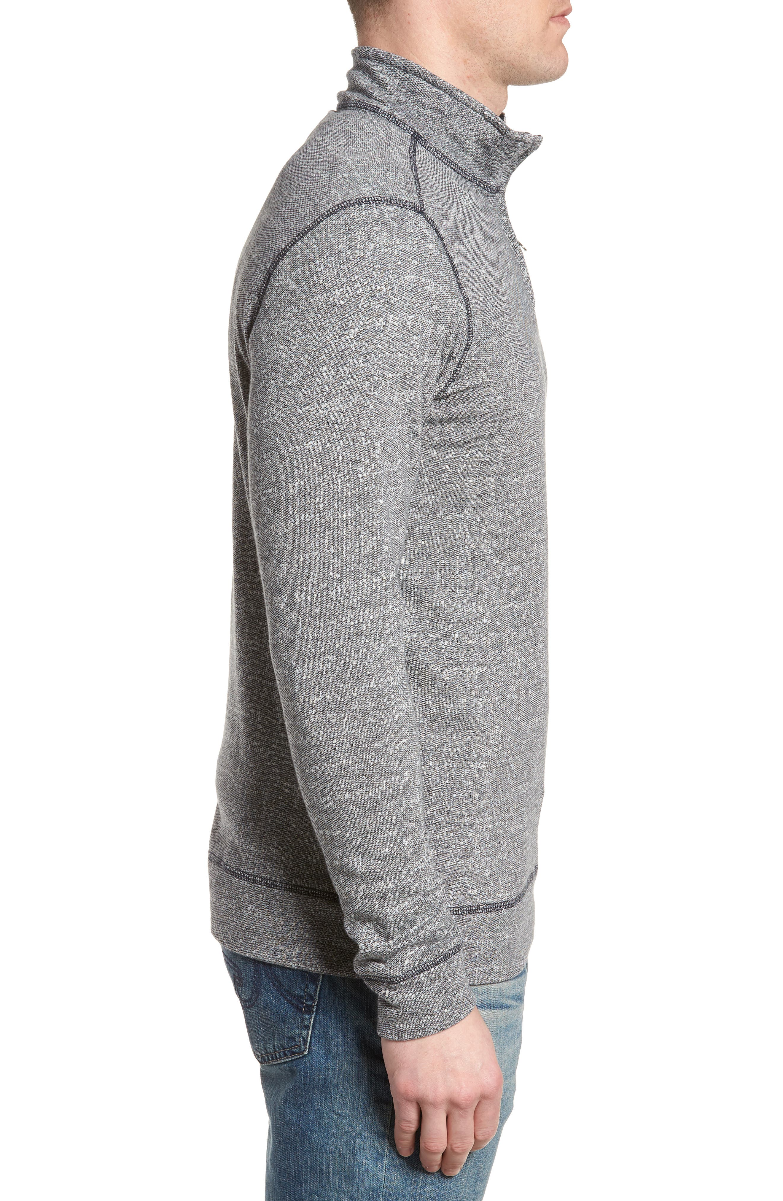 Regular Fit French Terry Pullover,                             Alternate thumbnail 3, color,                             CHARCOAL