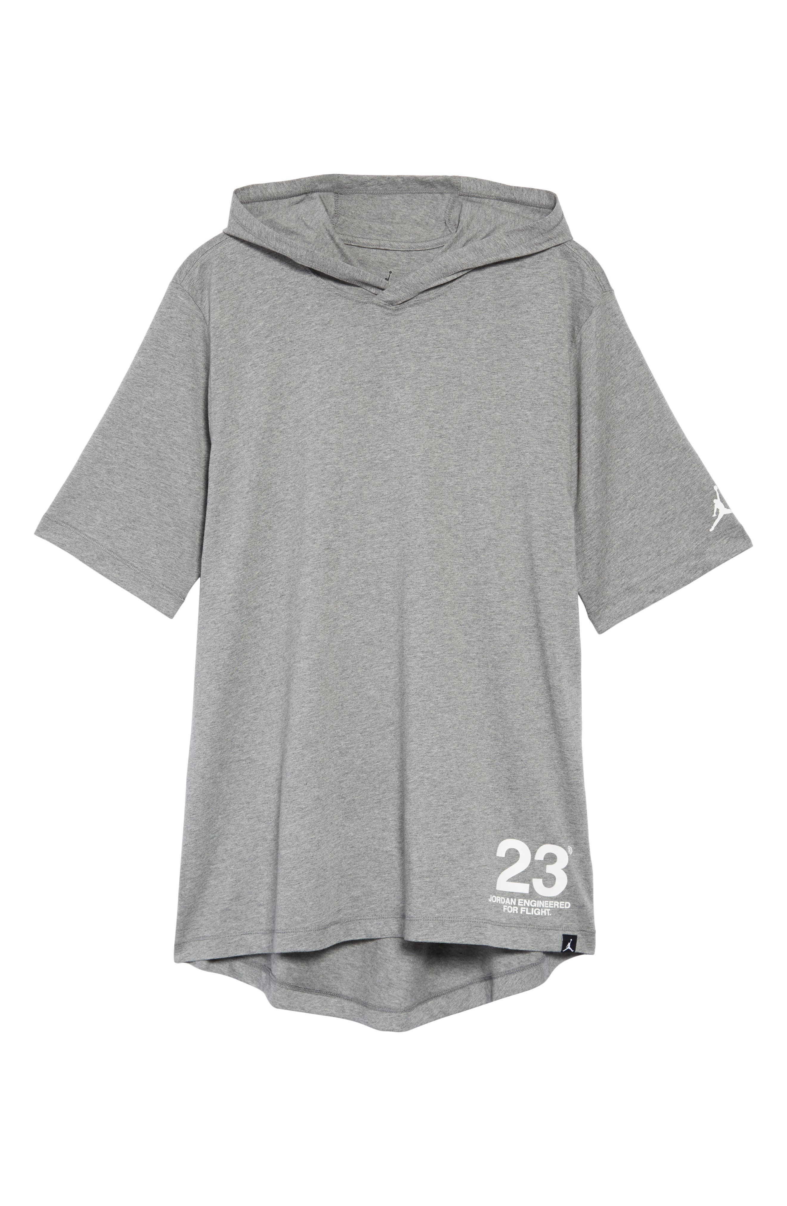 Sportswear 23 Hooded T-Shirt,                             Alternate thumbnail 6, color,                             CARBON HEATHER/ WHITE