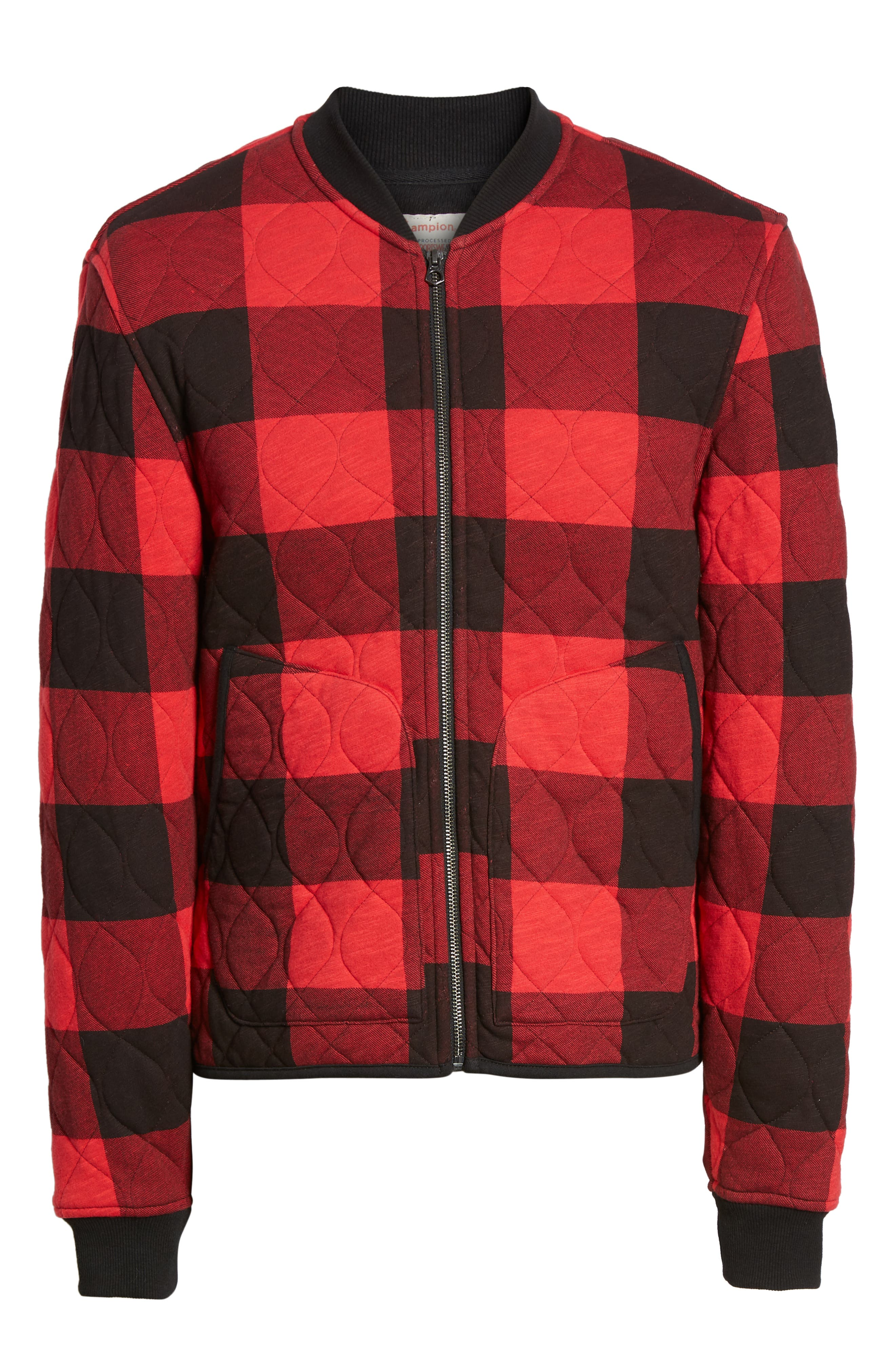 Quilted Bomber Jacket,                             Alternate thumbnail 7, color,                             RED