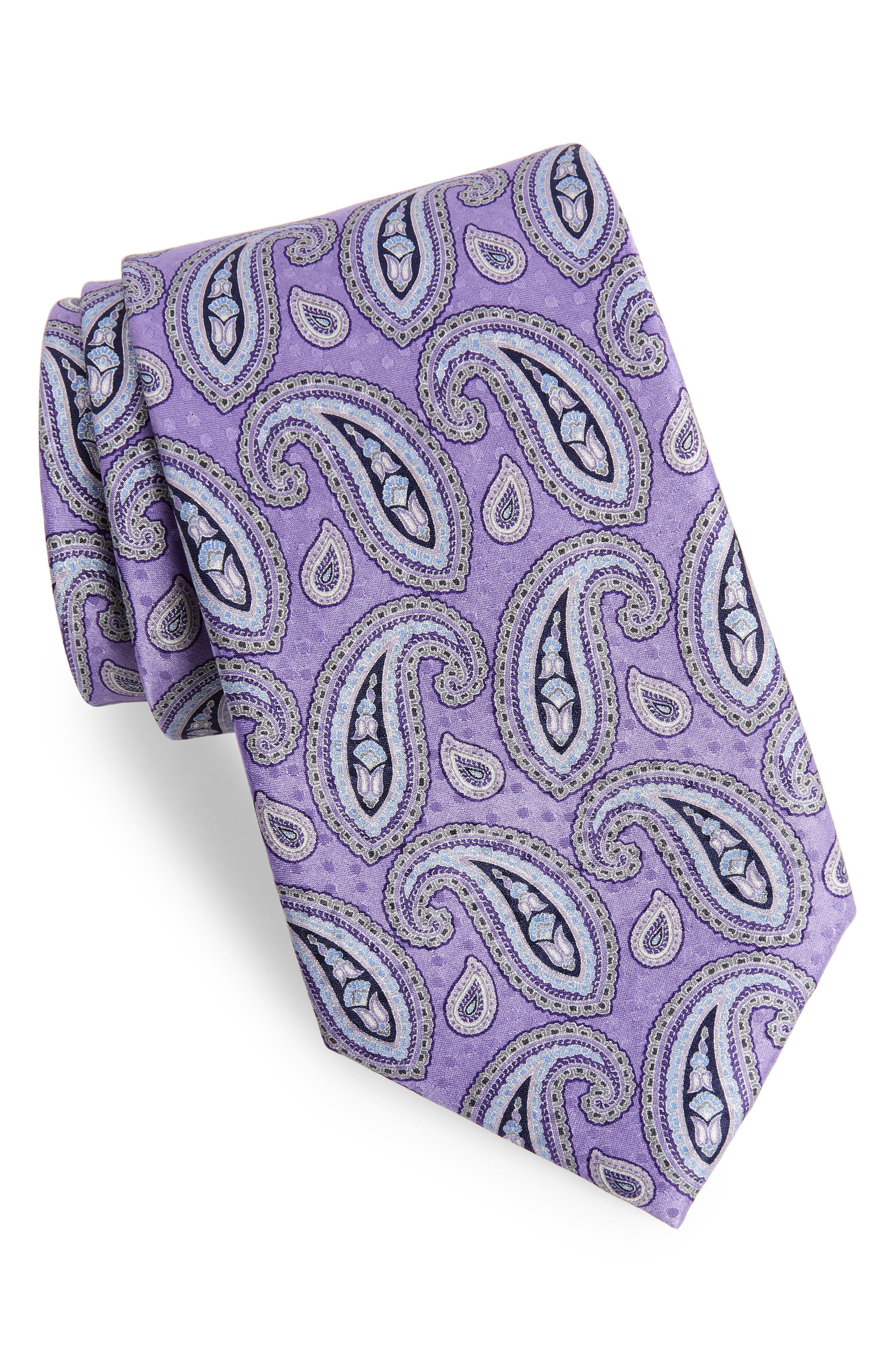 Paisley Silk Tie,                             Main thumbnail 1, color,                             500