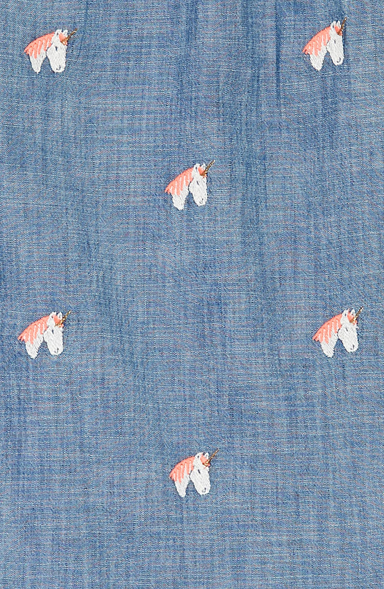 Unicorn Chambray Dress,                             Alternate thumbnail 3, color,                             SUN BLUE