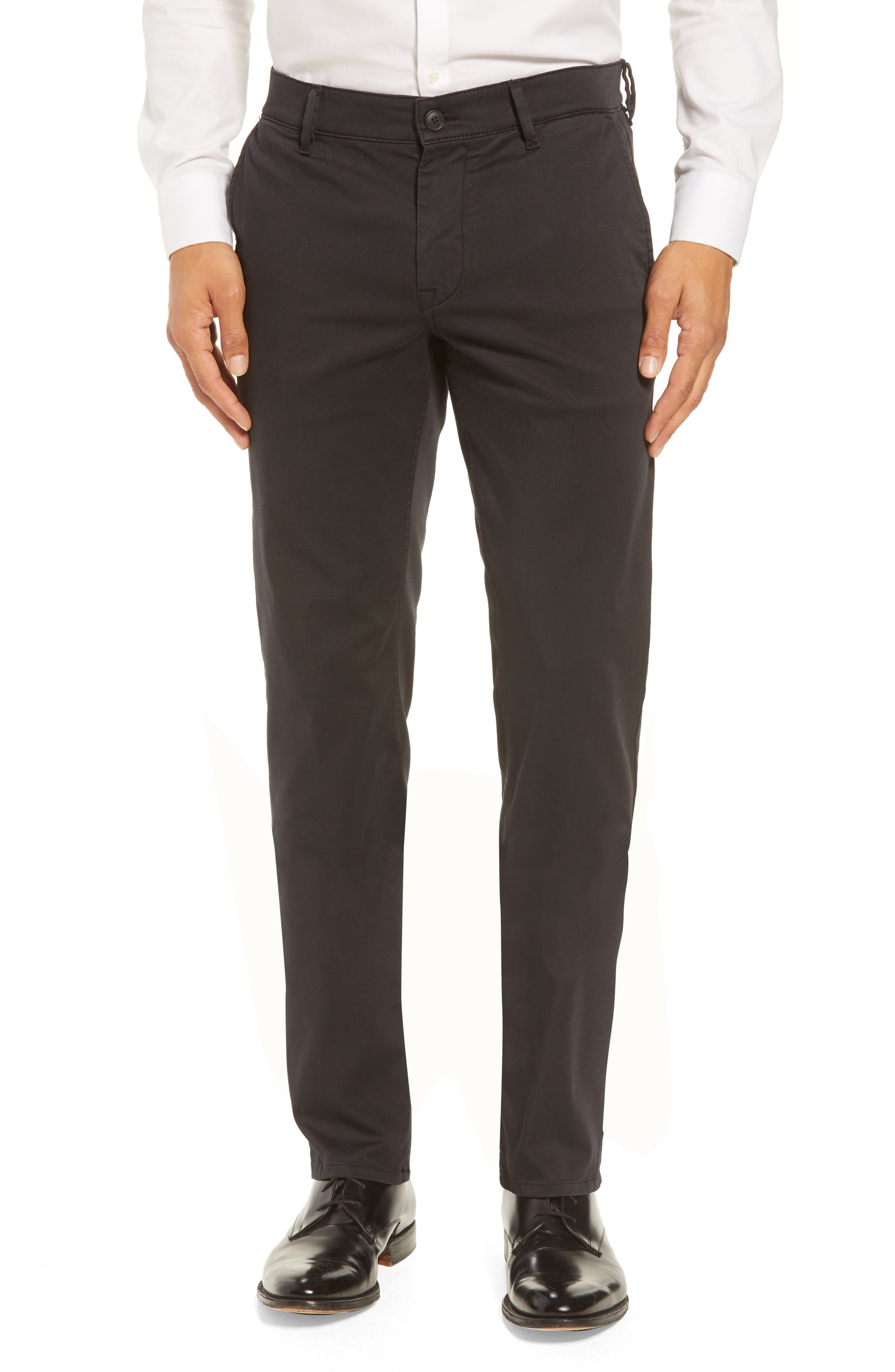 Stretch Chino Pants,                         Main,                         color, BLACK