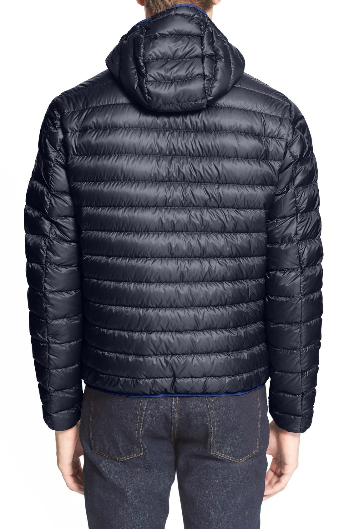 'Mir' Hooded Quilted Down Jacket,                             Alternate thumbnail 5, color,                             400