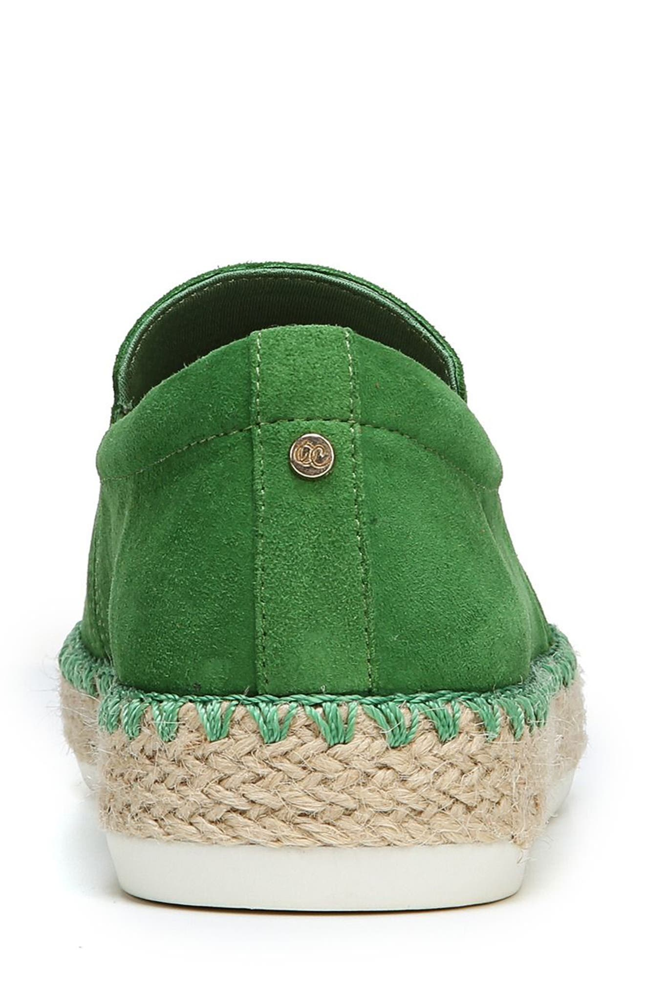 Sunnie Slip-On Sneaker,                             Alternate thumbnail 7, color,                             GREEN SUEDE