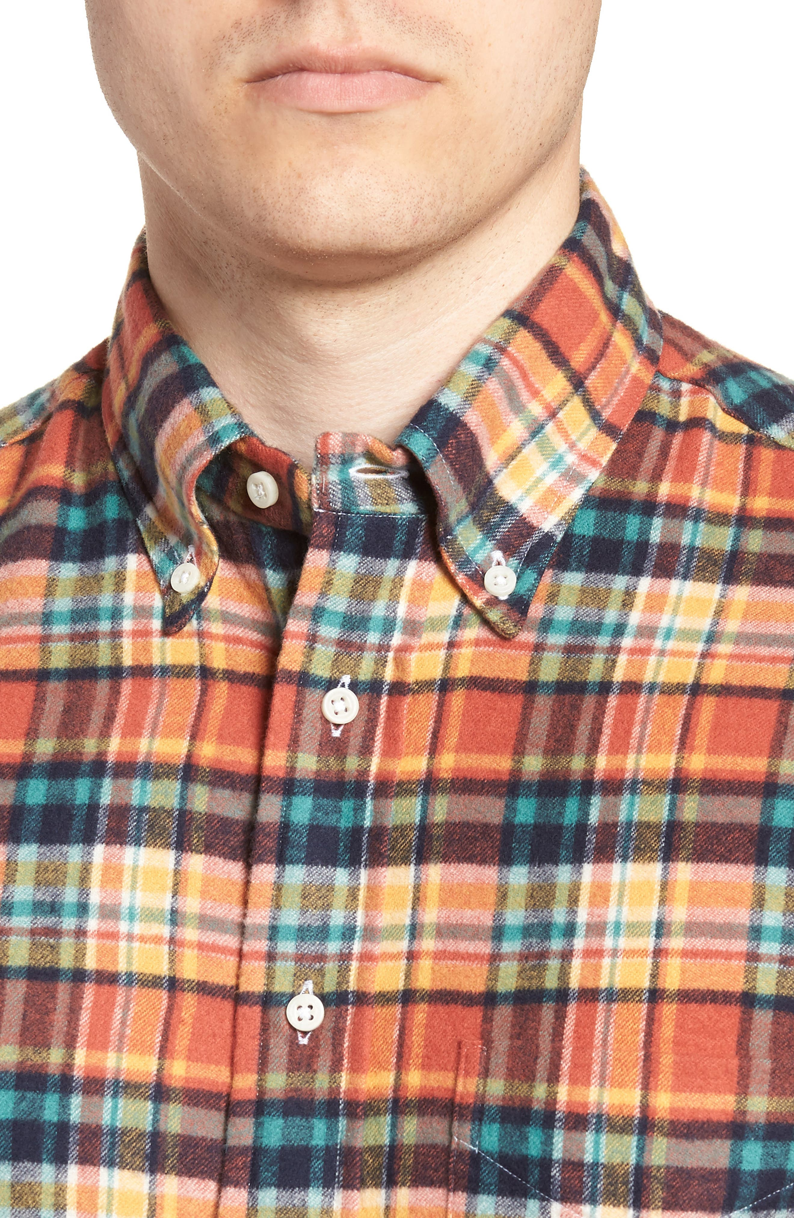Regular Fit Flannel Shirt,                             Alternate thumbnail 2, color,                             800