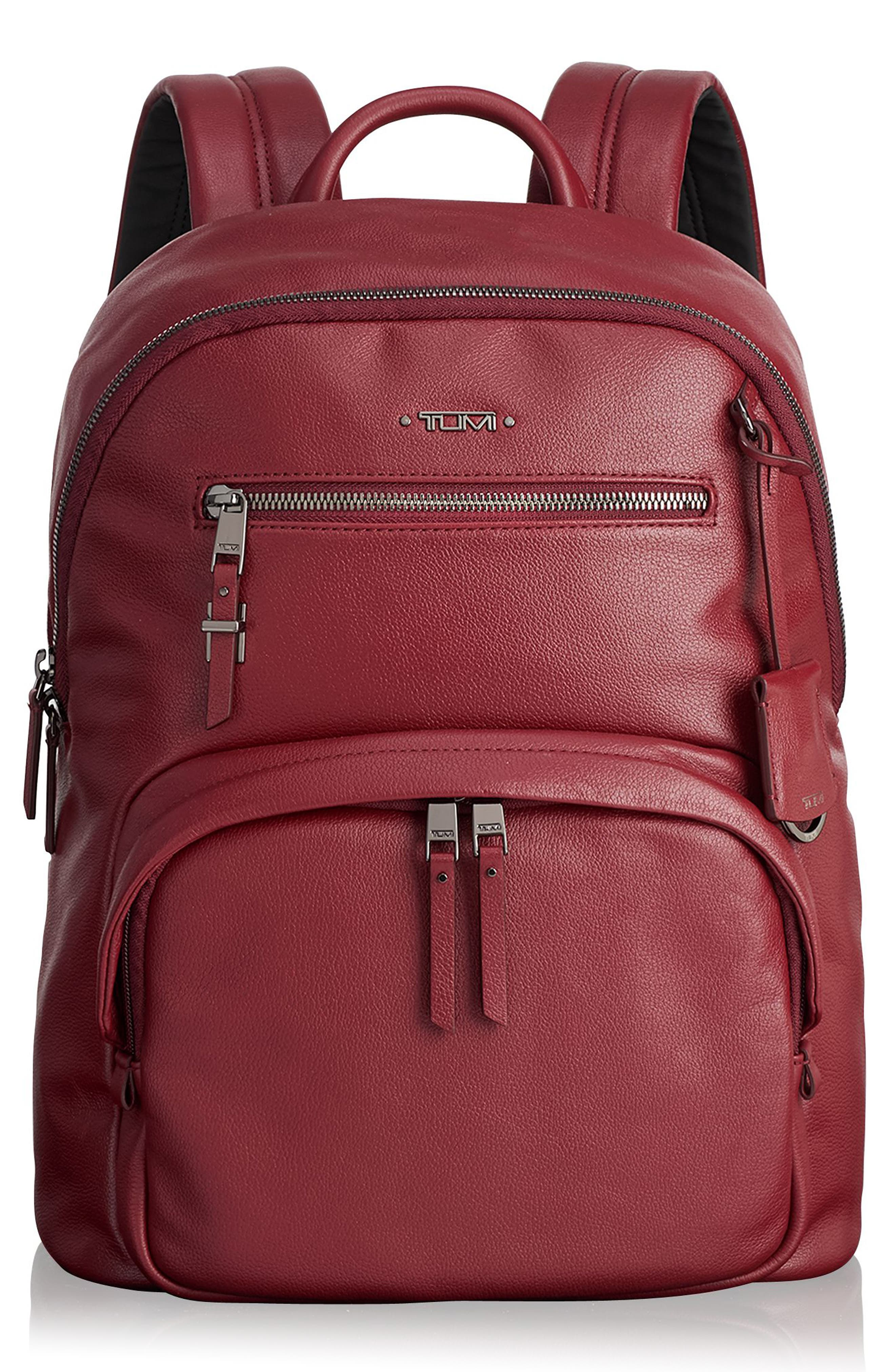 Voyager Hagen Leather Backpack,                             Main thumbnail 1, color,                             647