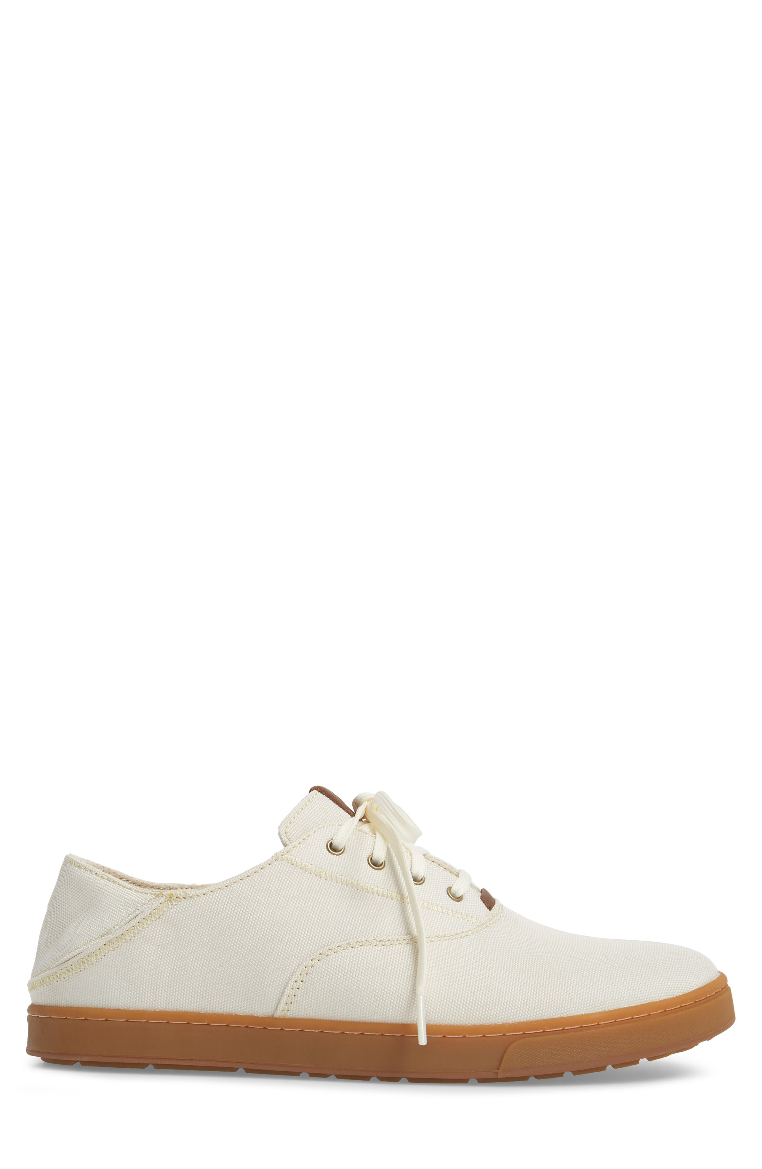Kahu Collapsible Lace-Up Sneaker,                             Alternate thumbnail 2, color,                             OFF WHITE/ TOFFEE