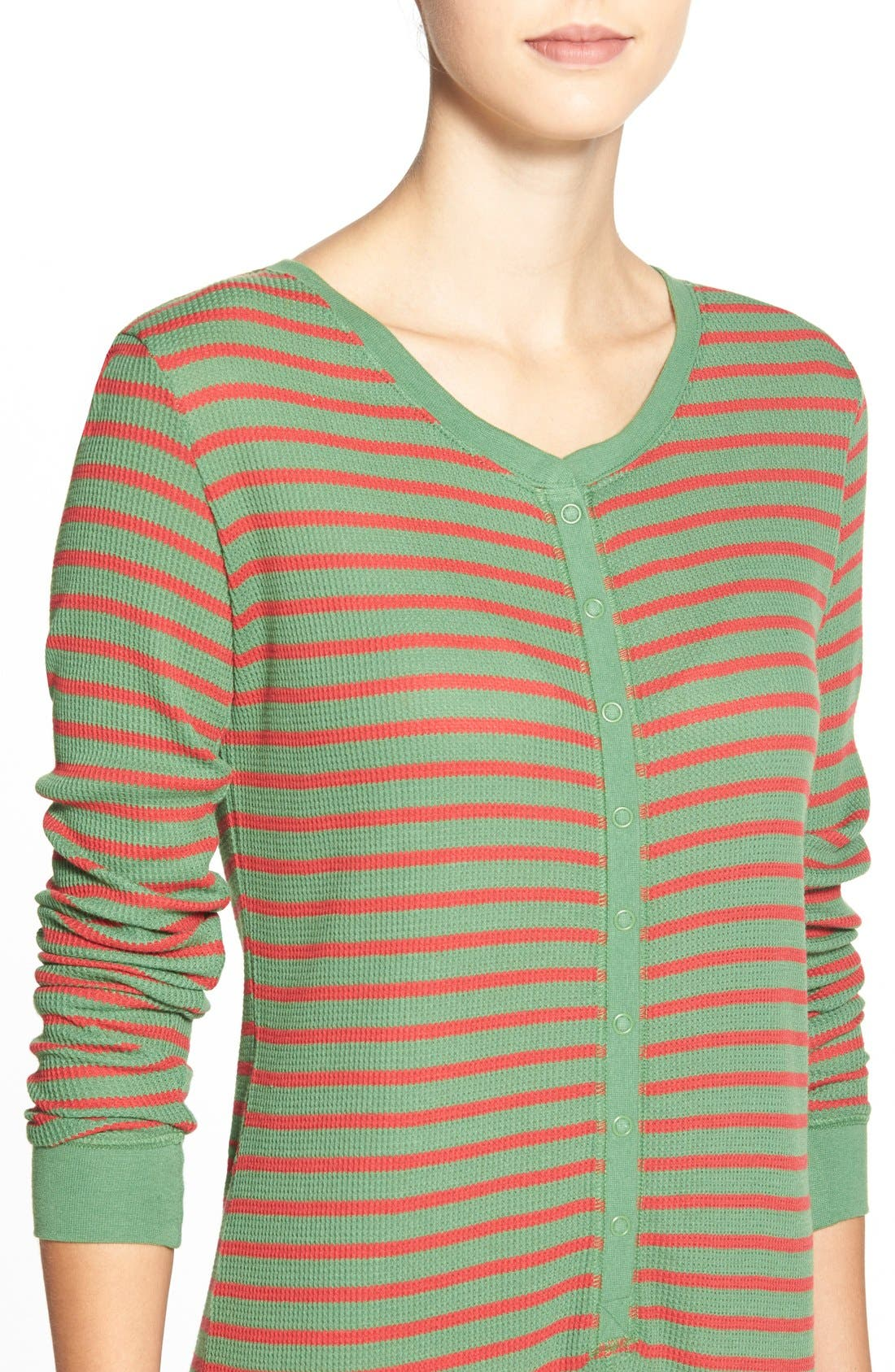 Holiday Thermal One-Piece Pajamas,                             Alternate thumbnail 5, color,                             310