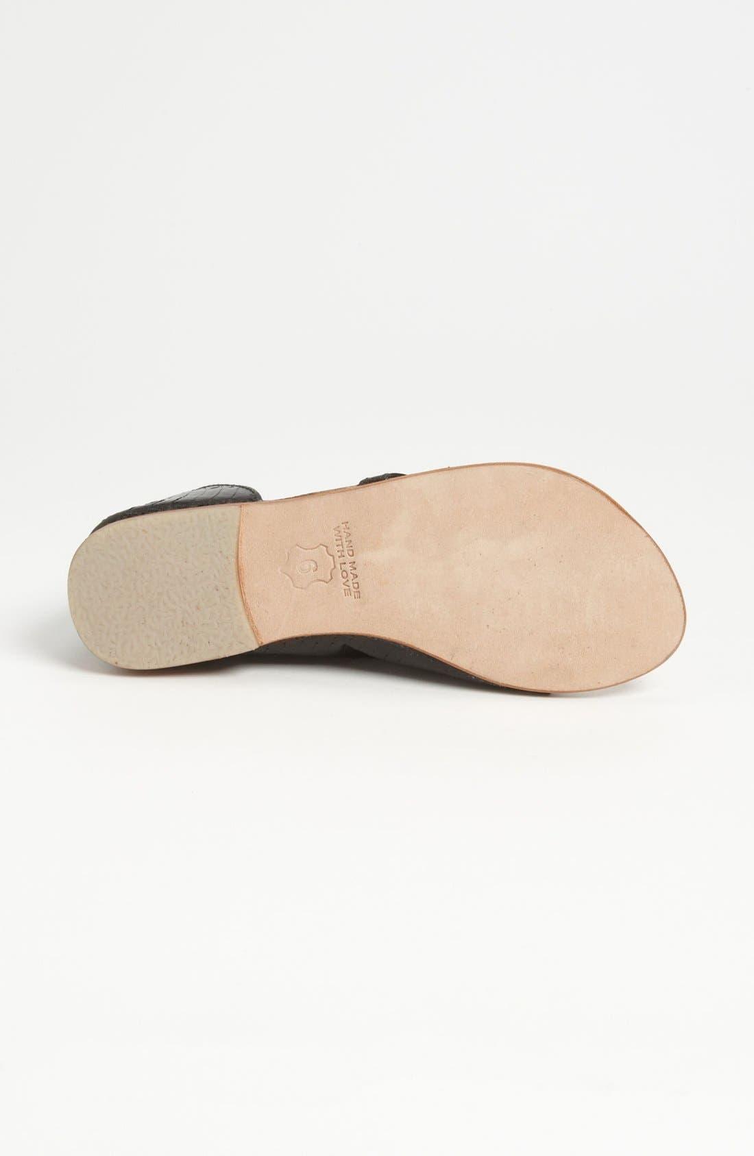 Ankle Wrap Sandal,                             Alternate thumbnail 3, color,                             001