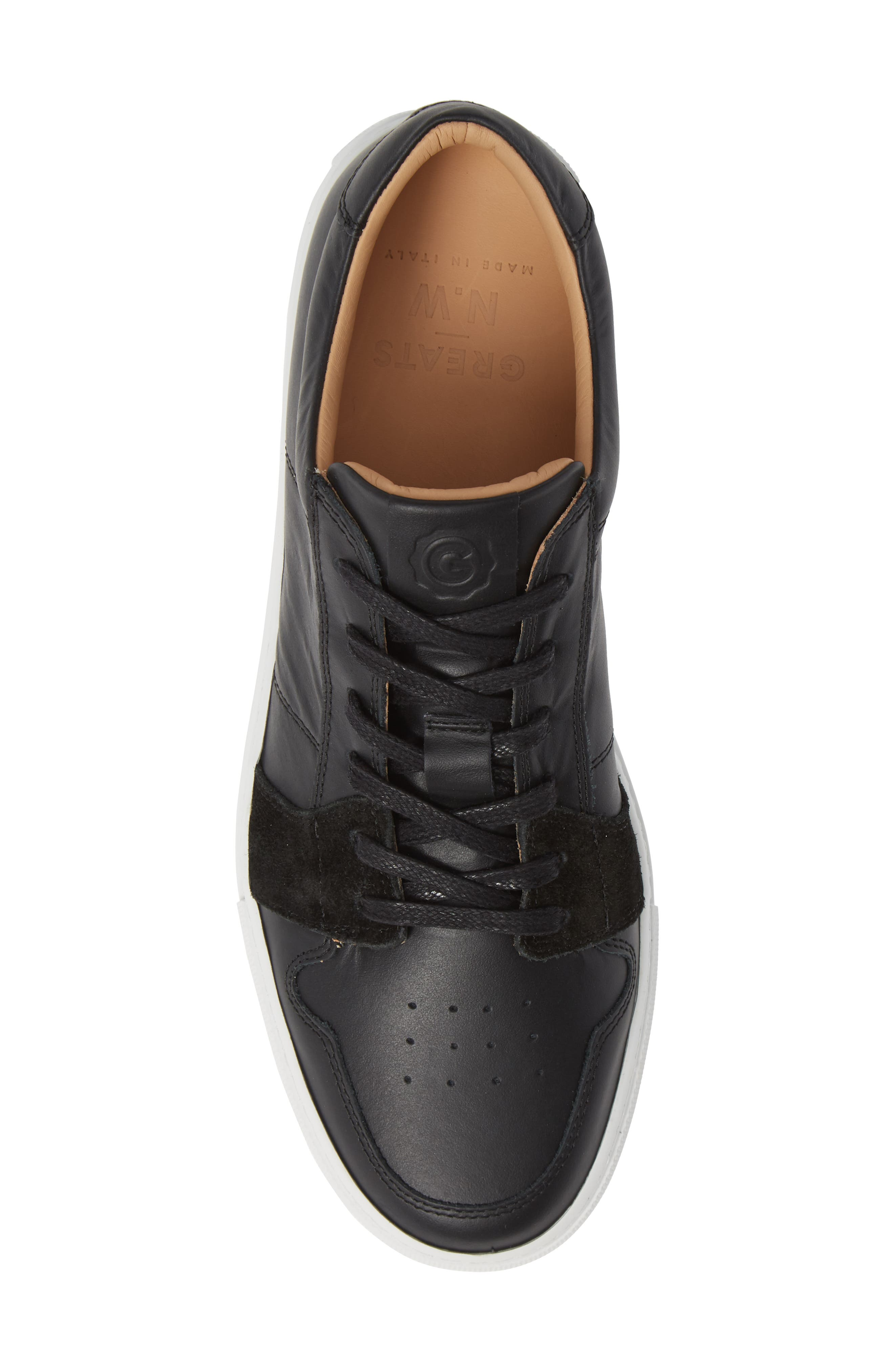 Nick Wooster x GREATS Court Low Top Sneaker,                             Alternate thumbnail 5, color,                             BLACK
