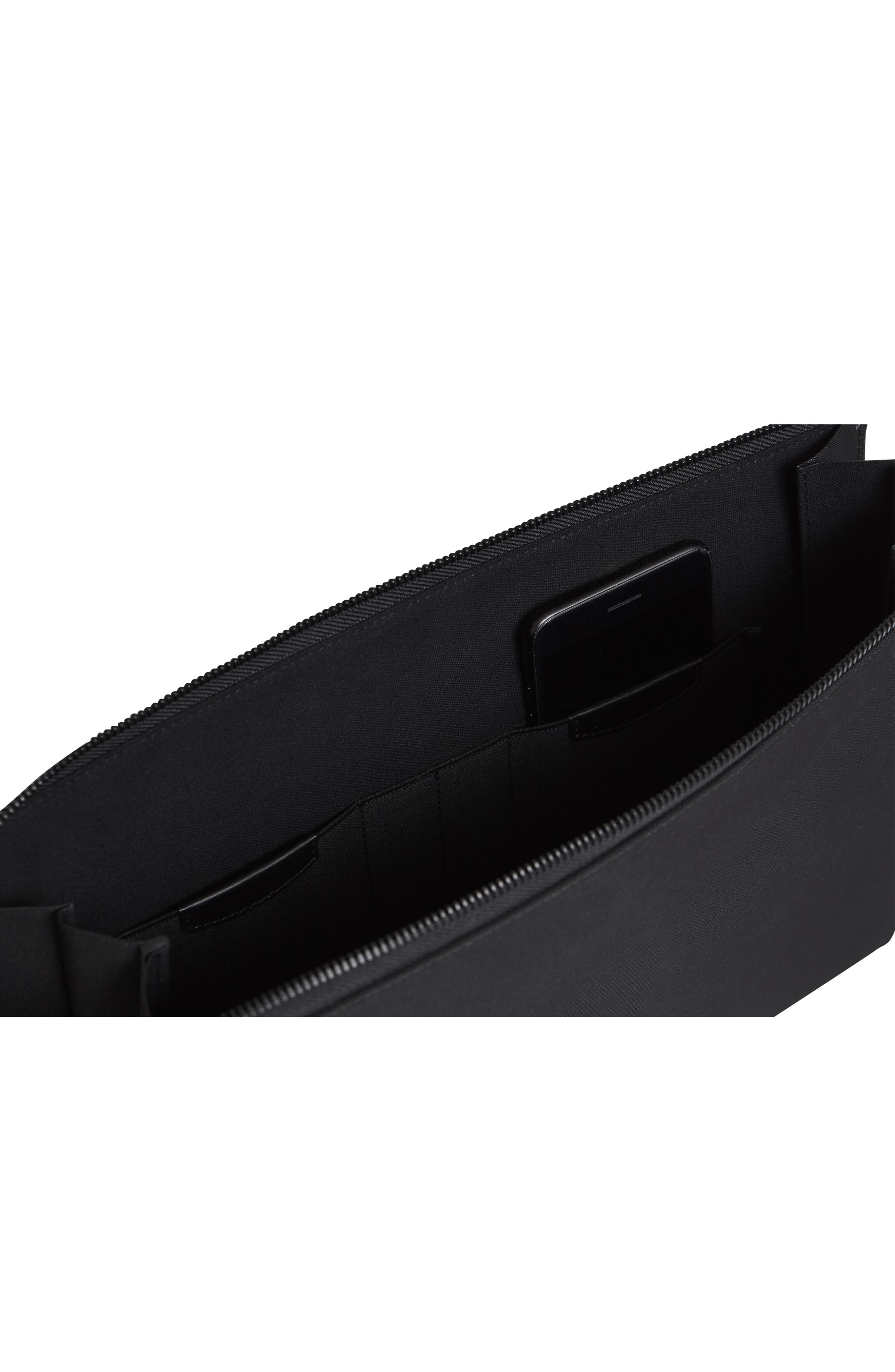 Portfolio Case,                             Alternate thumbnail 8, color,                             BLACK NYLON/ BLACK LEATHER