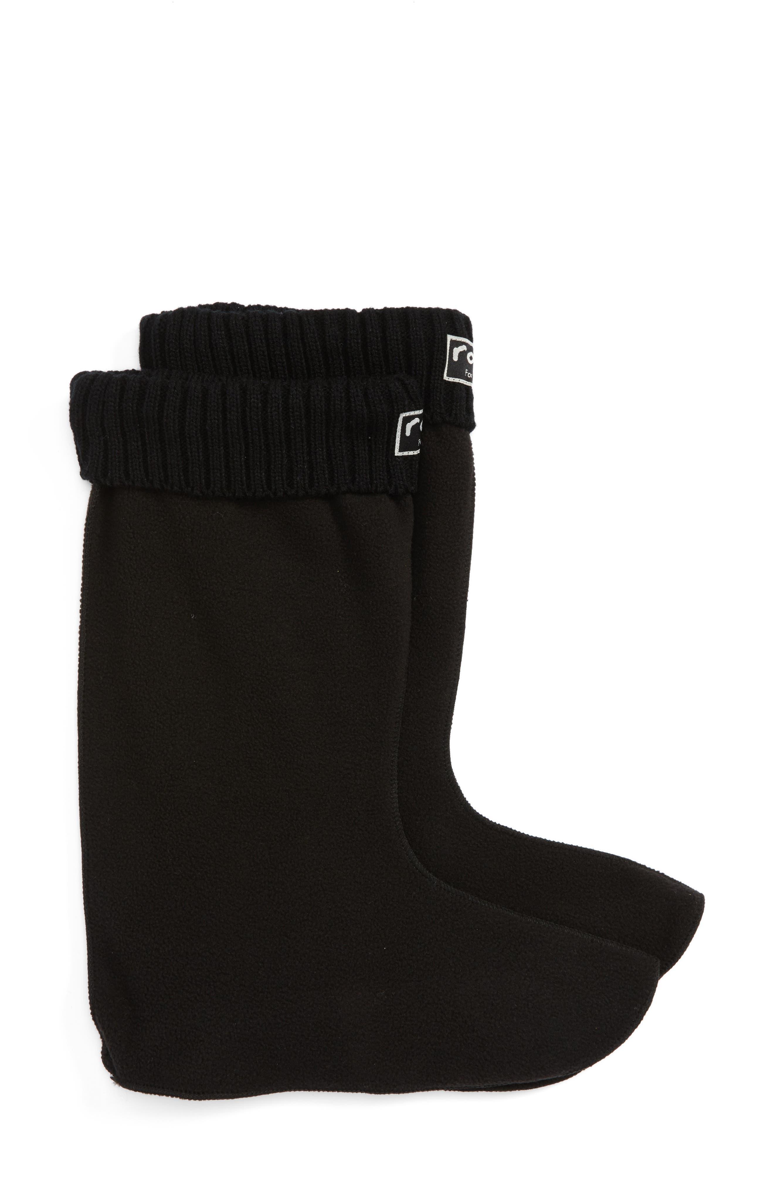 Knit Cuff Fleece Boot Socks,                             Main thumbnail 1, color,                             002
