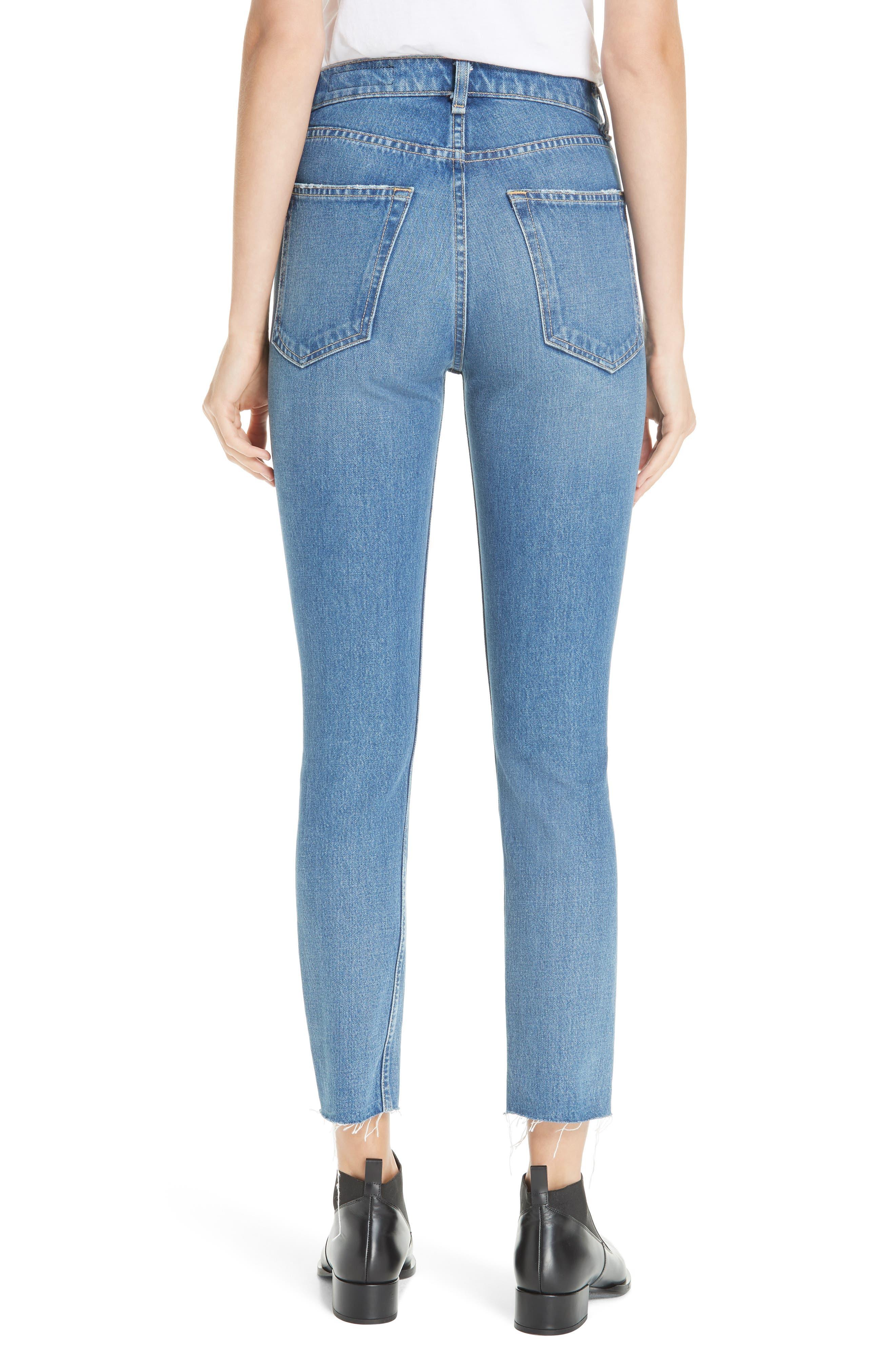 High Waist Ankle Skinny Jeans,                             Alternate thumbnail 2, color,                             420
