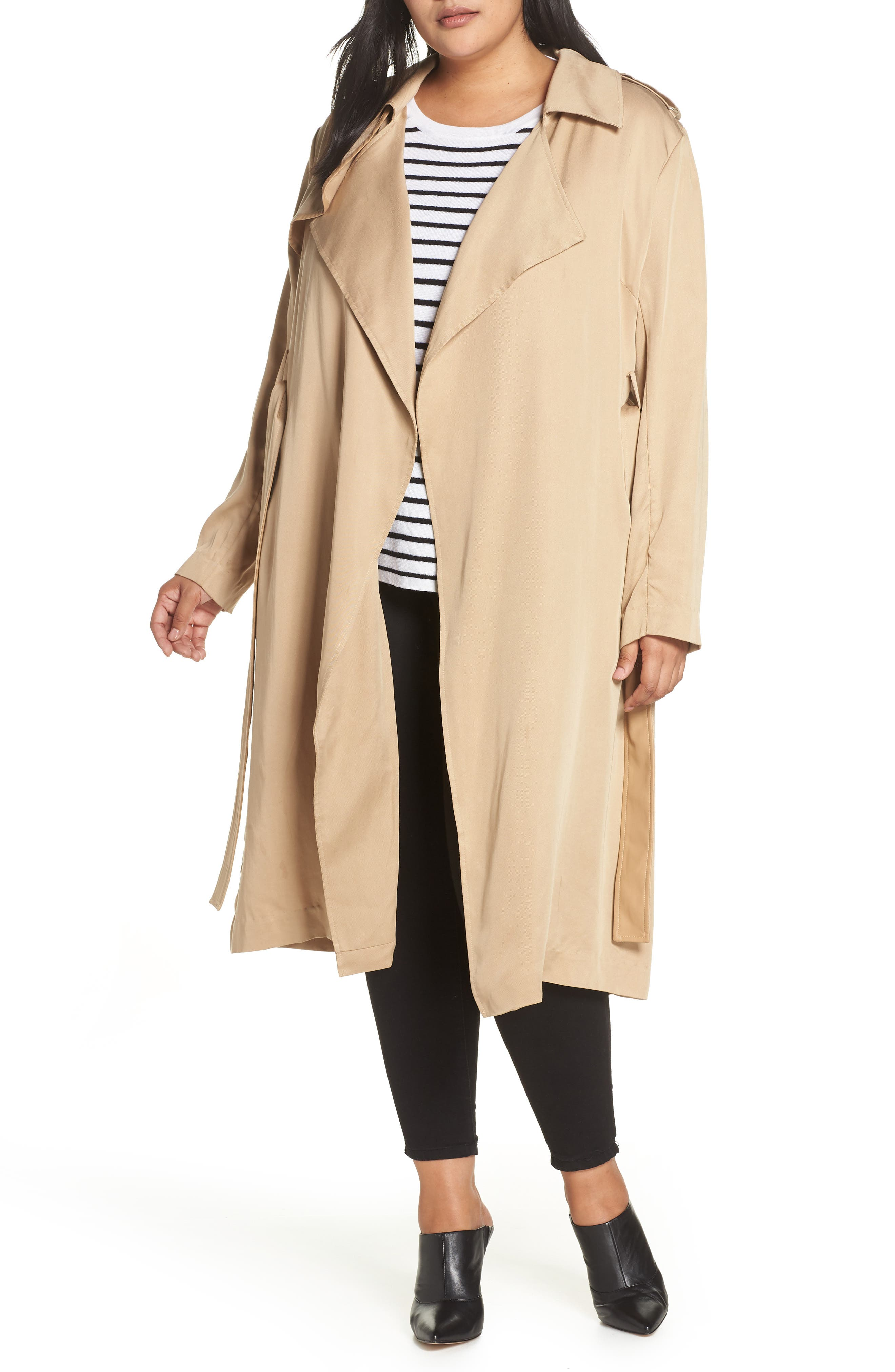 Angelina Trench Coat,                             Main thumbnail 1, color,                             SAND