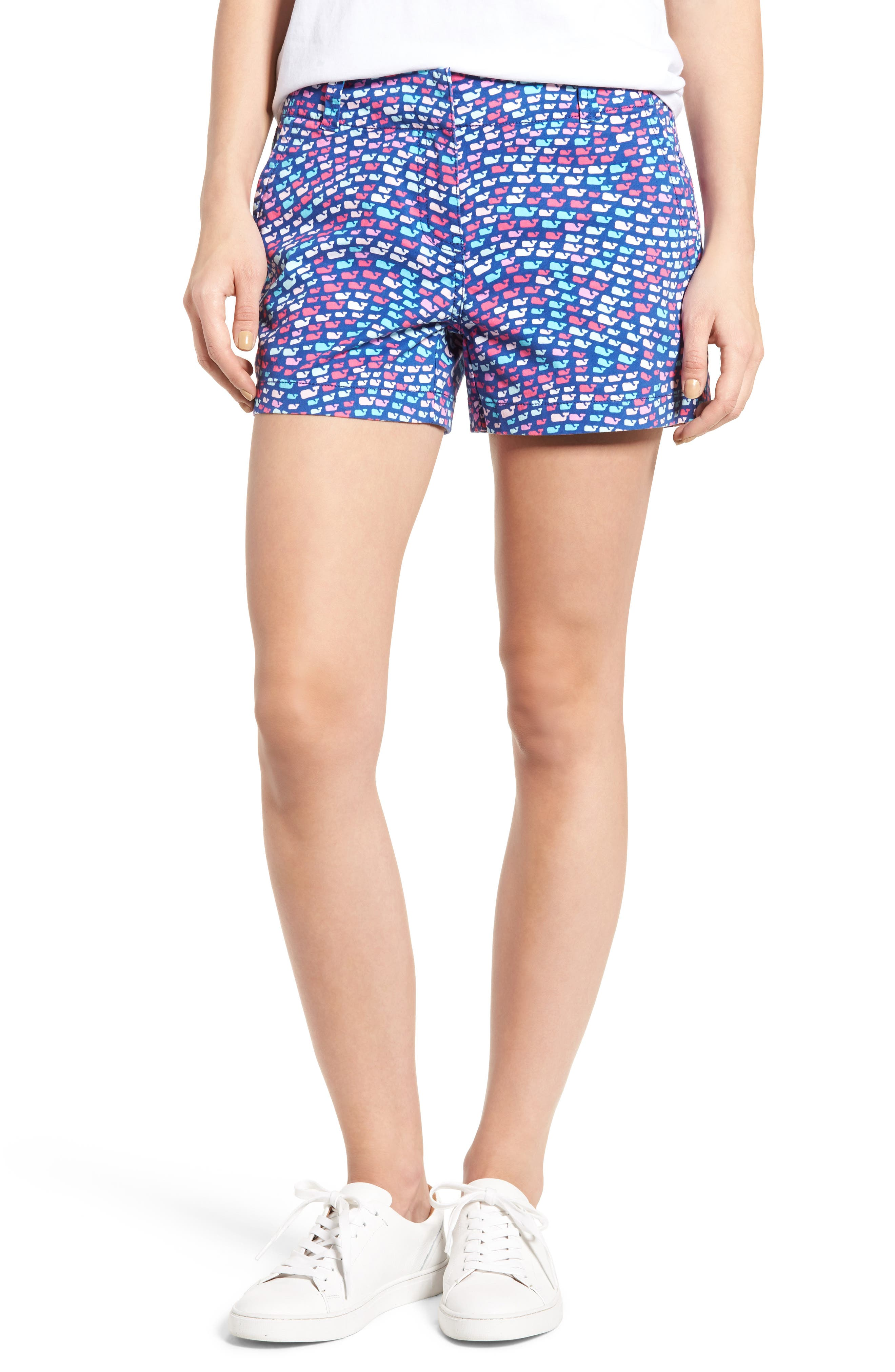 Whale Print Shorts, Main, color, 400