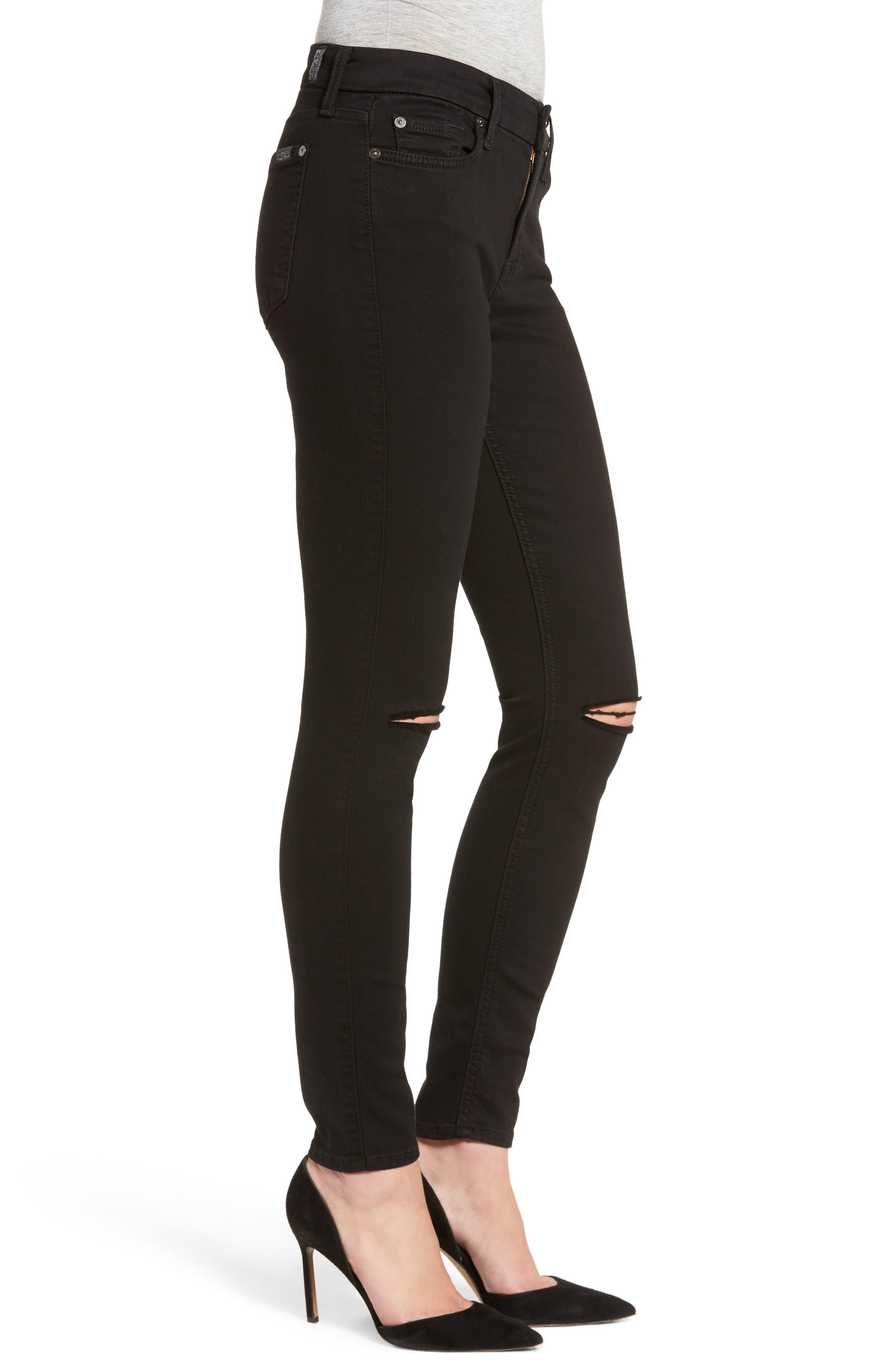 b(air) Ankle Skinny Jeans,                             Alternate thumbnail 3, color,                             BAIR BLACK 2