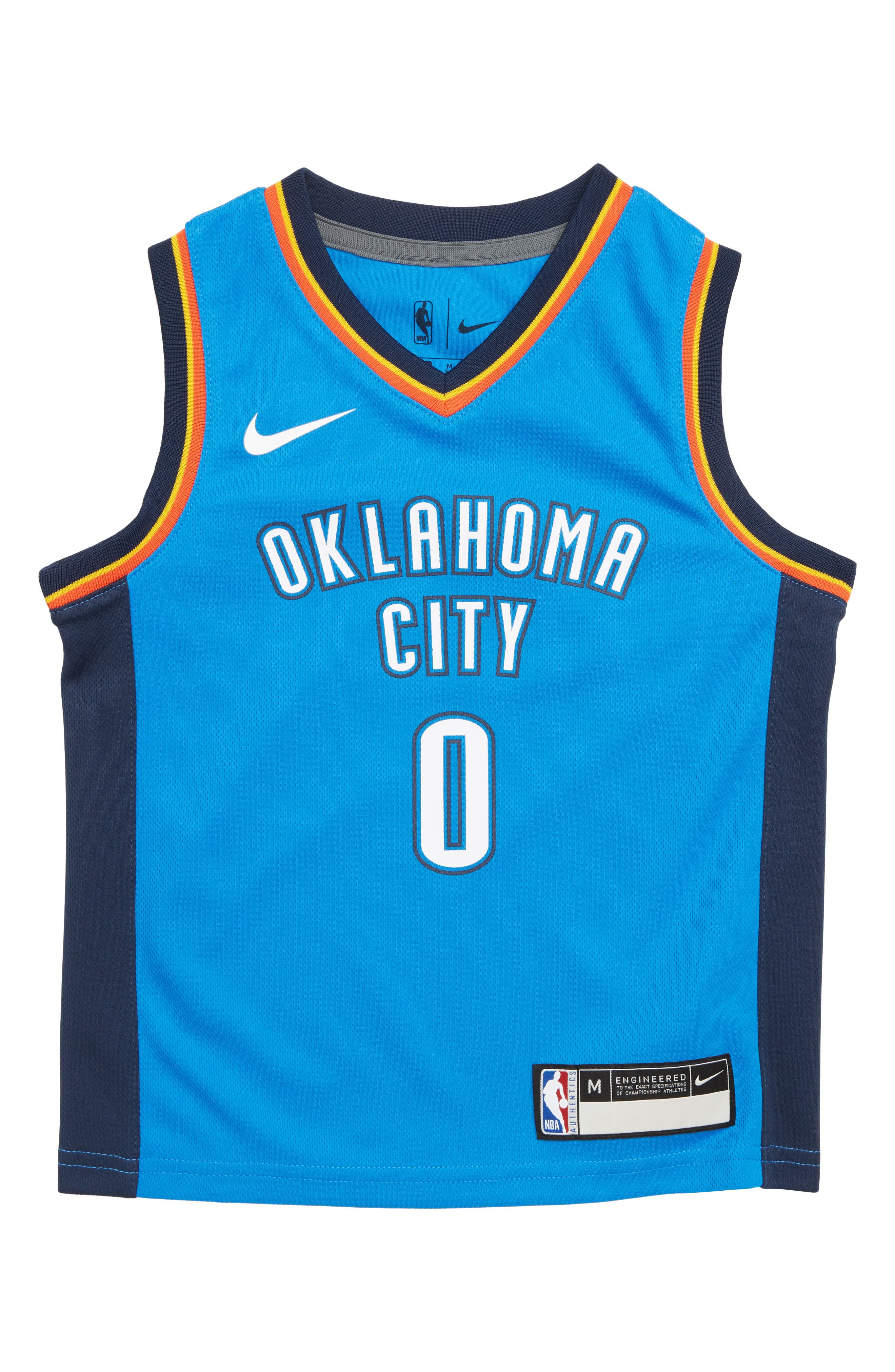 hot sale online a05f1 6820c authentic russell westbrook jersey boys 12802 316b1