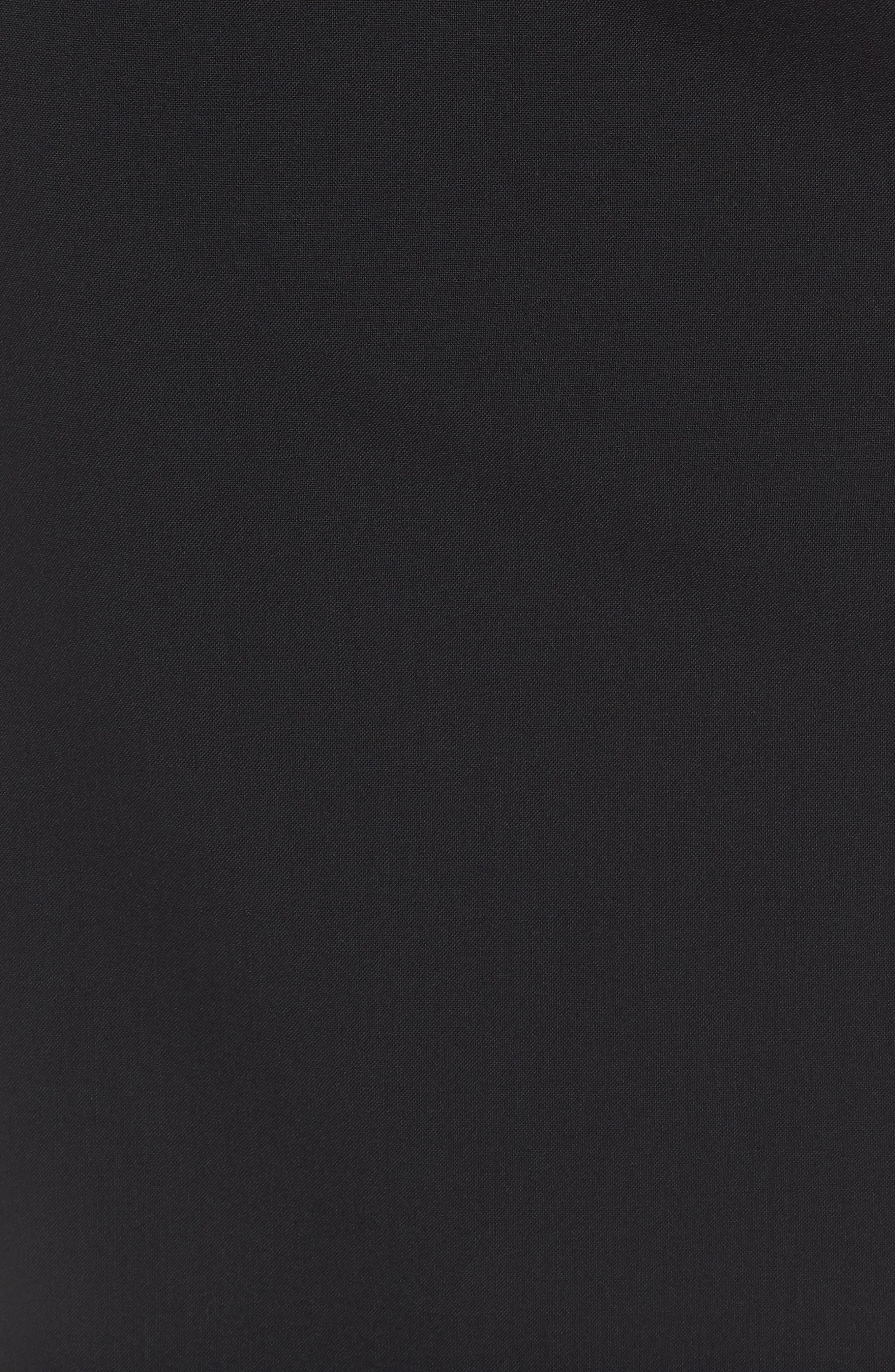 Volania Stretch Wool Pencil Skirt,                             Alternate thumbnail 5, color,                             BLACK
