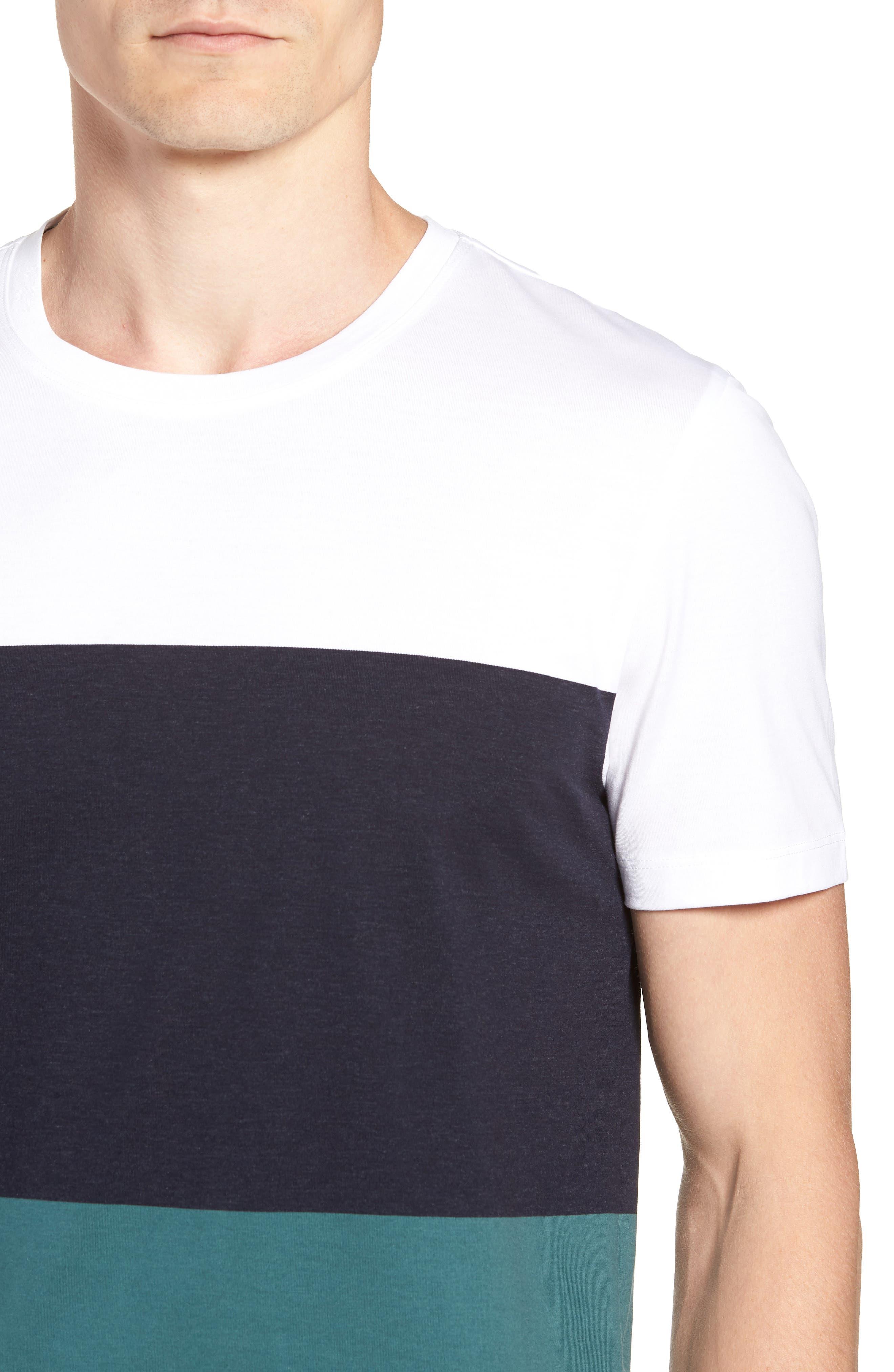 Tessler Colorblock Slim Fit T-Shirt,                             Alternate thumbnail 4, color,                             BLUE