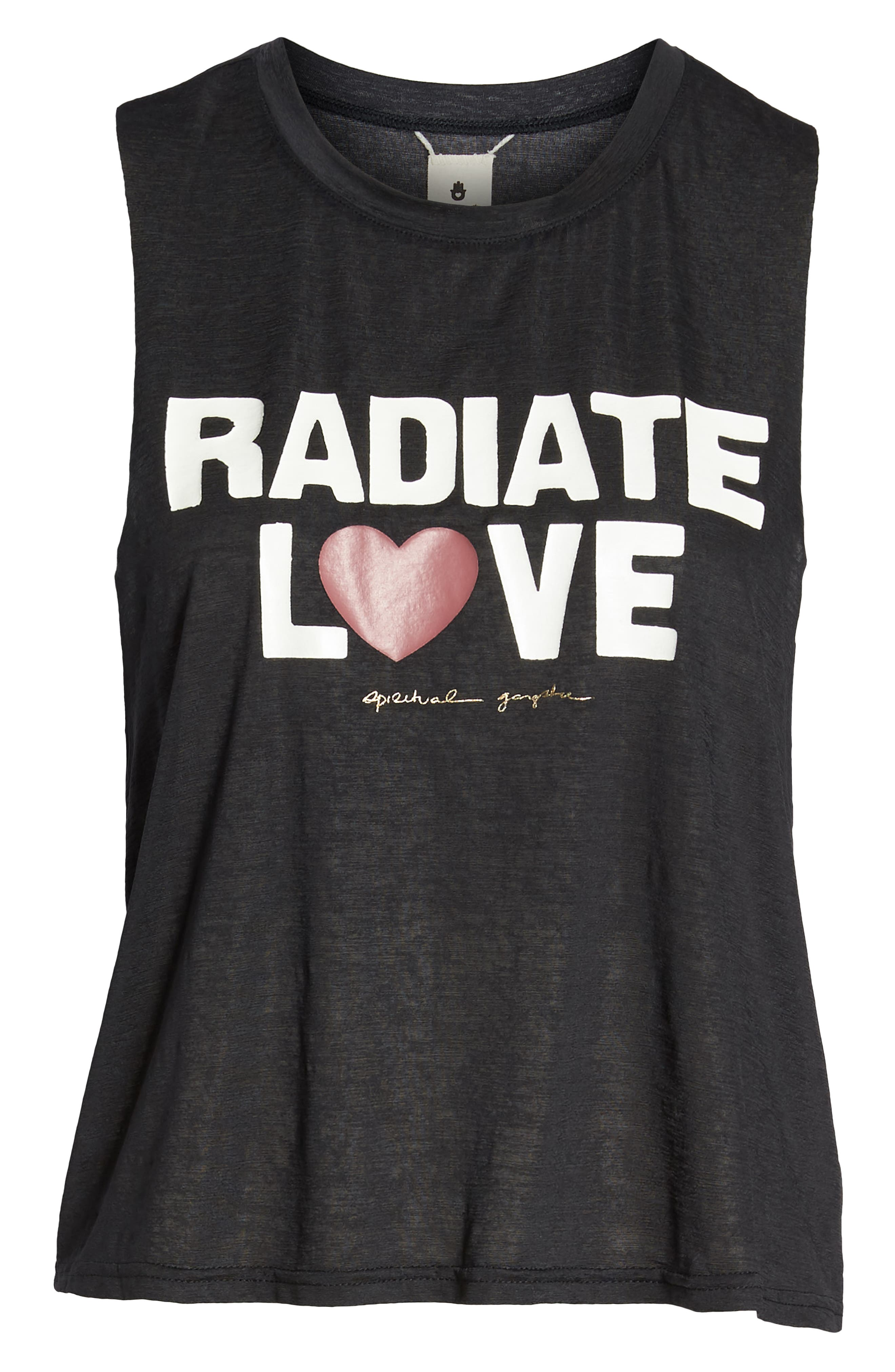 Radiate Love Crop Tank Top,                             Alternate thumbnail 7, color,                             003
