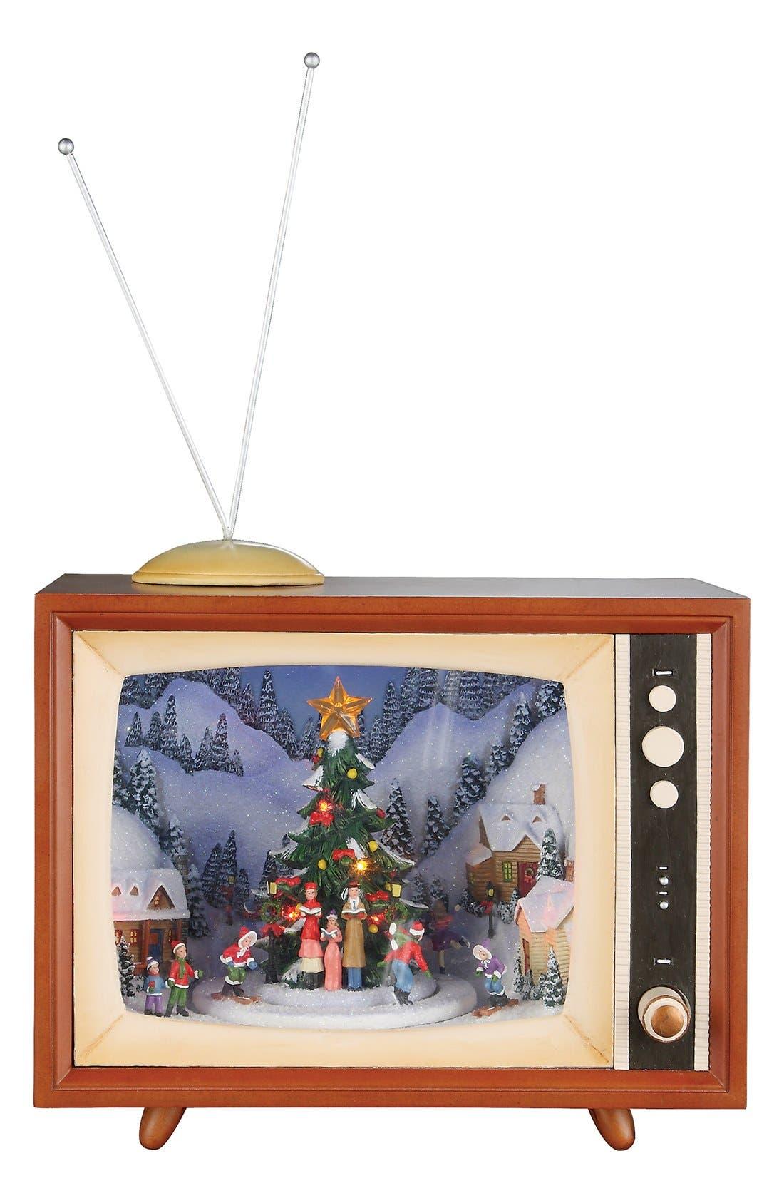 ROMAN,                             Carolers & Tree Musical TV Decoration,                             Main thumbnail 1, color,                             210