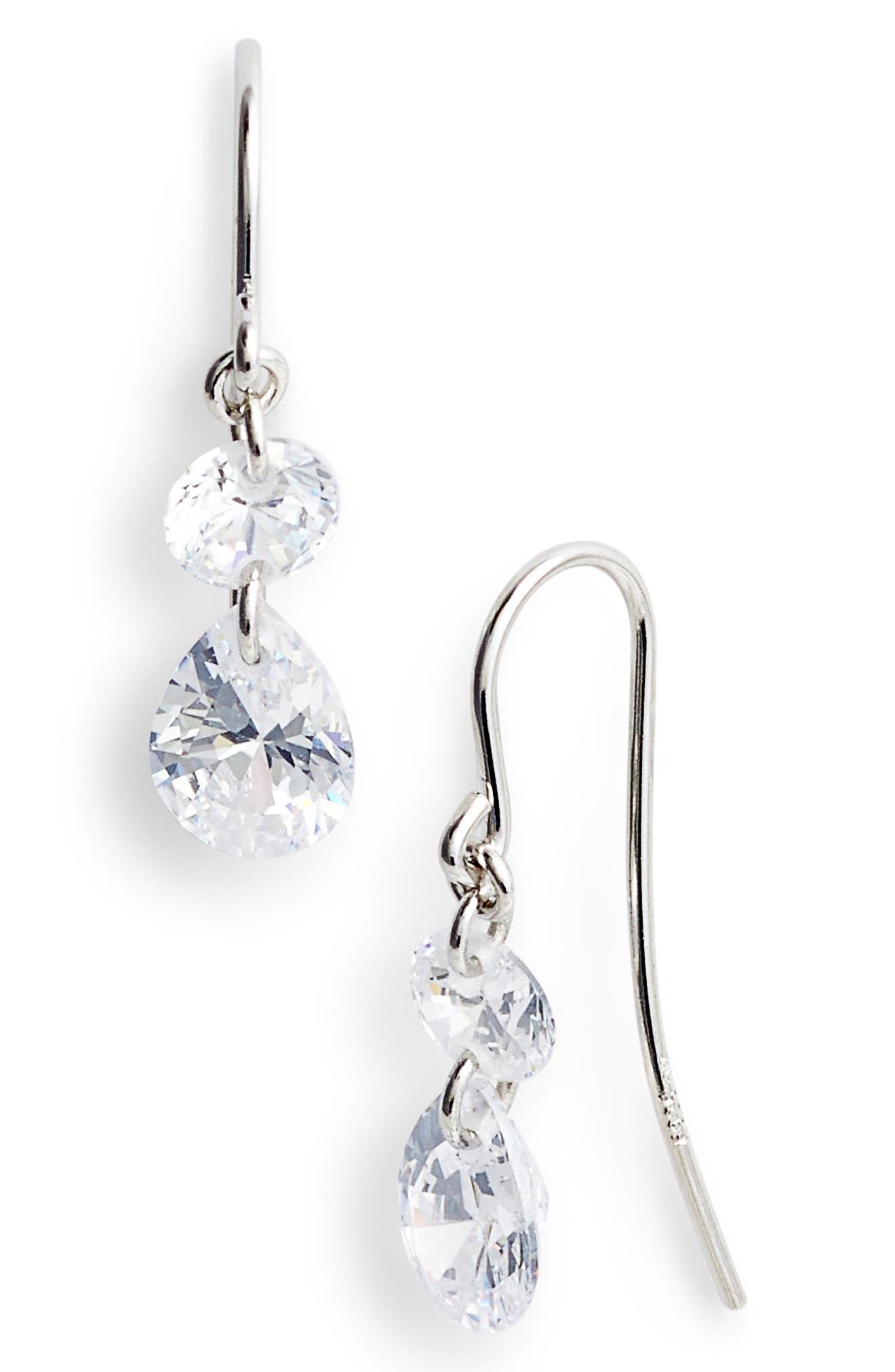 Briolette Two-Stone Drop Earrings,                             Main thumbnail 1, color,                             040
