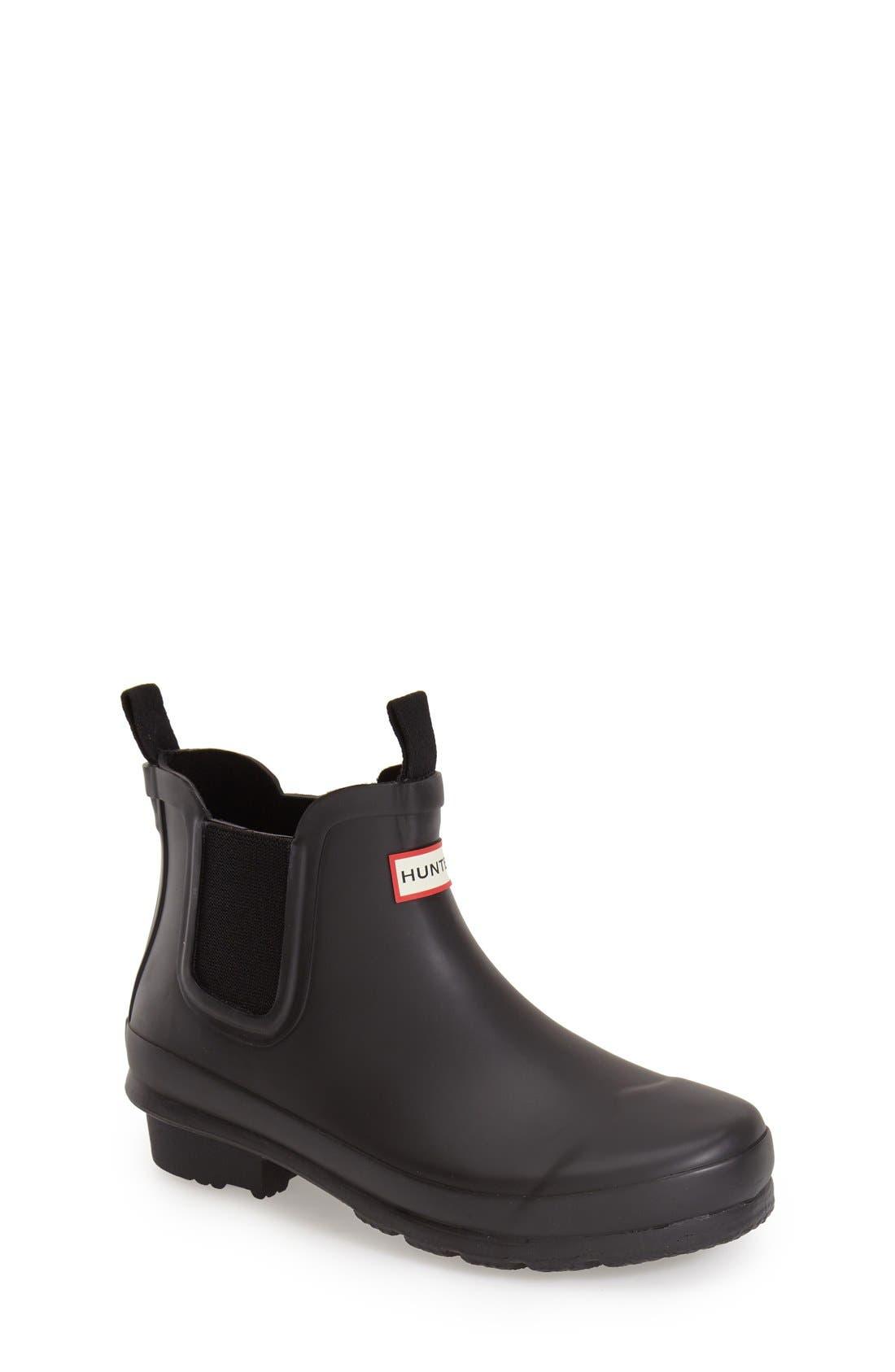 Original Chelsea Rain Boot,                             Main thumbnail 1, color,                             BLACK