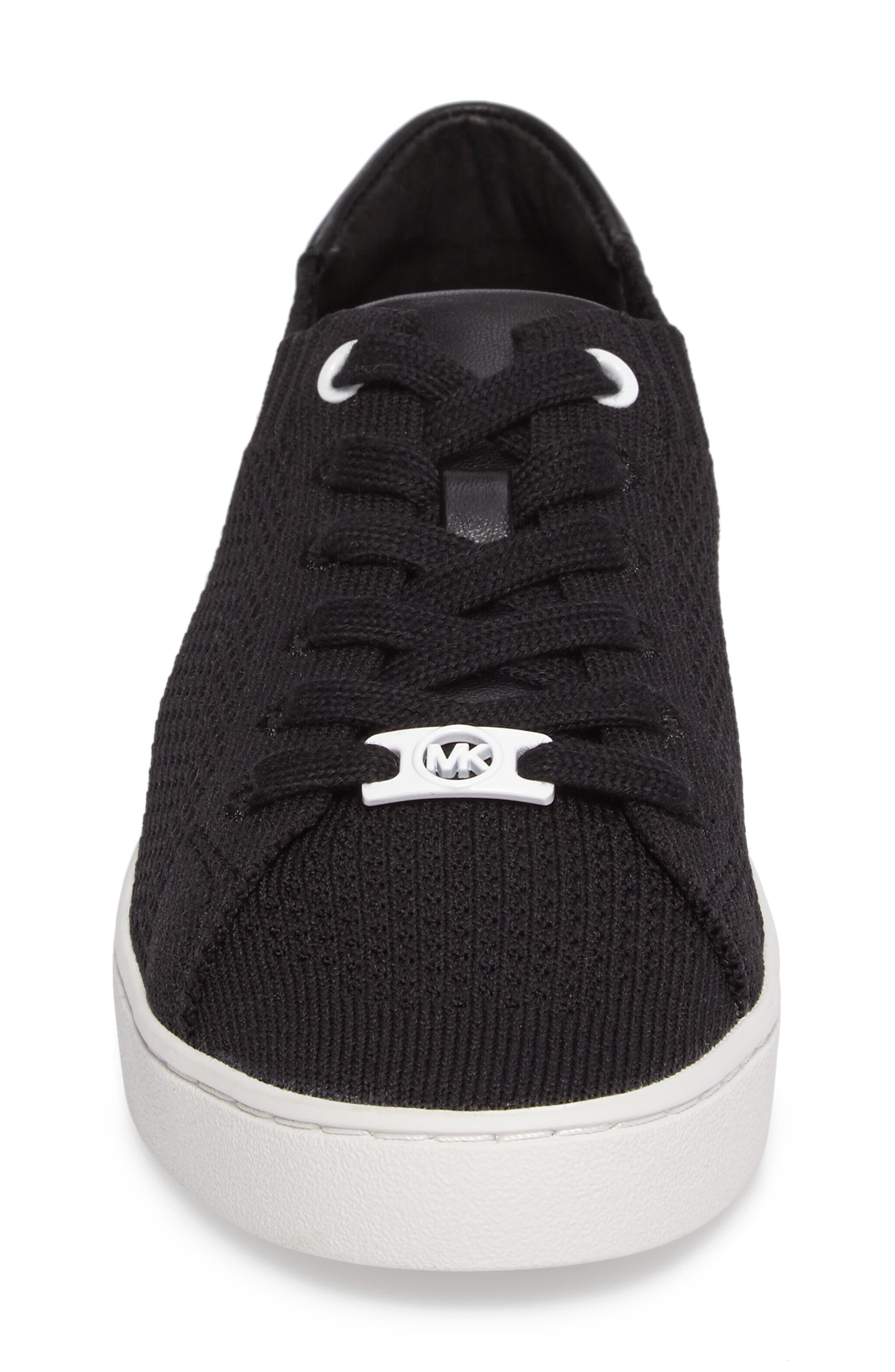 Skyler Knit Sneaker,                             Alternate thumbnail 4, color,                             001