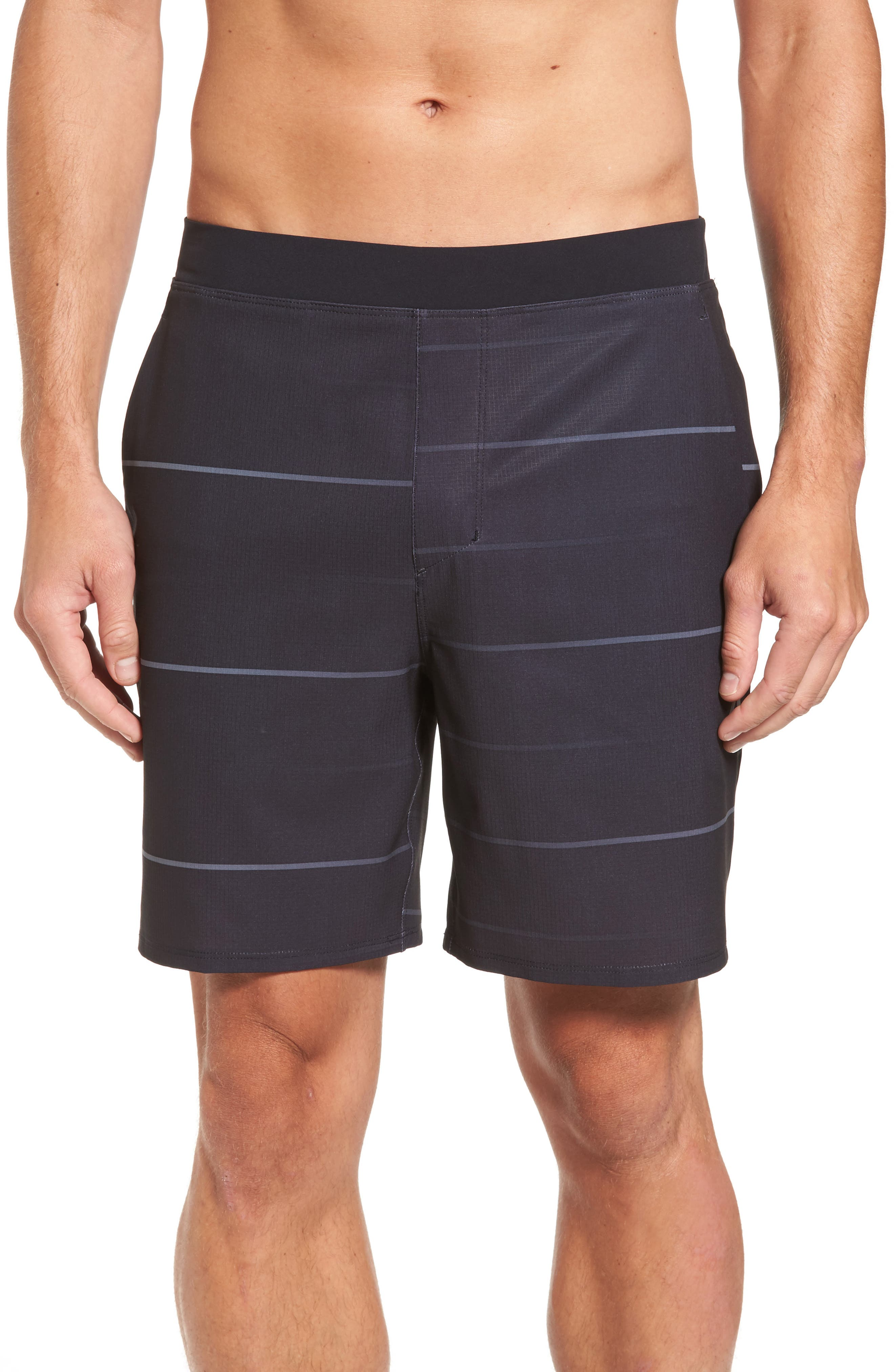 Alpha Trainer Stripe Shorts,                             Main thumbnail 1, color,                             010