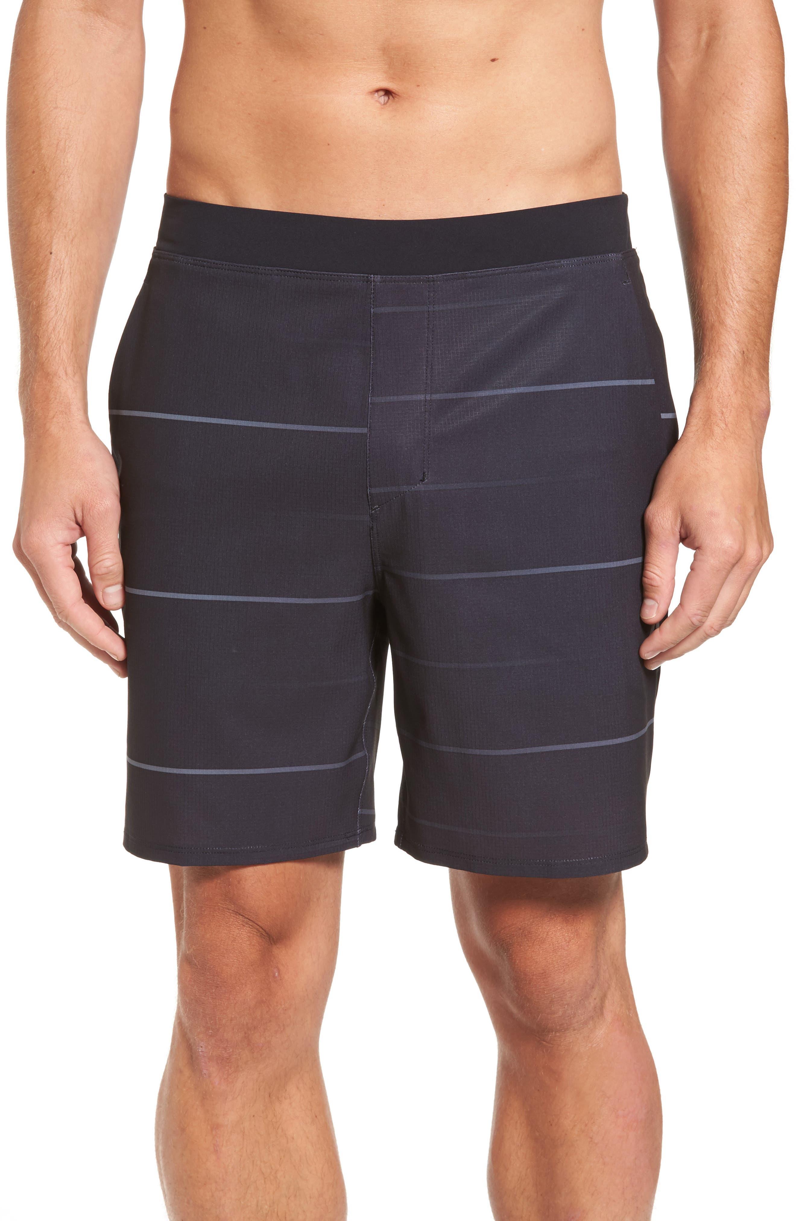 Alpha Trainer Stripe Shorts,                         Main,                         color, 010