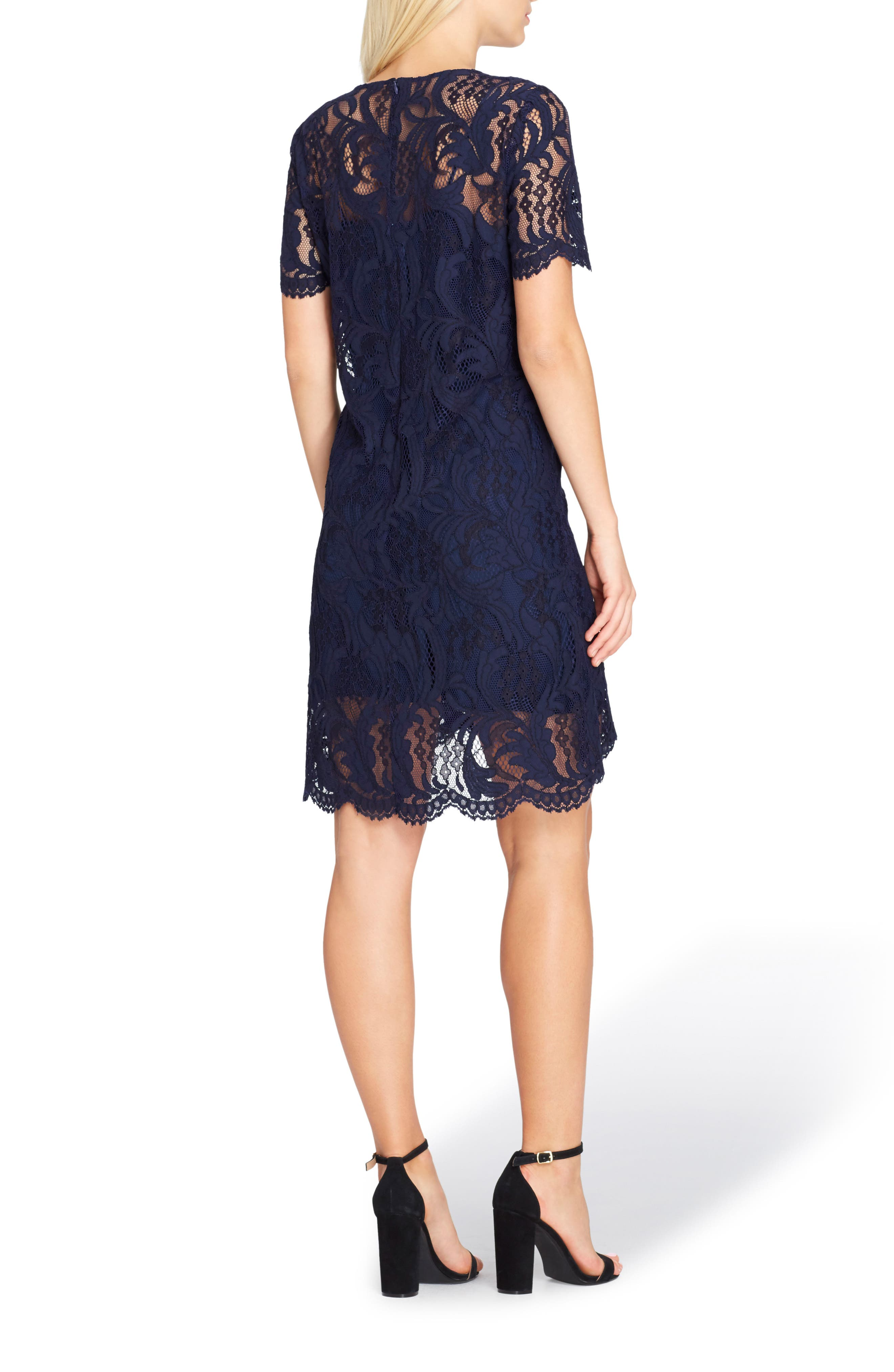 Lace High/Low Dress,                             Alternate thumbnail 2, color,