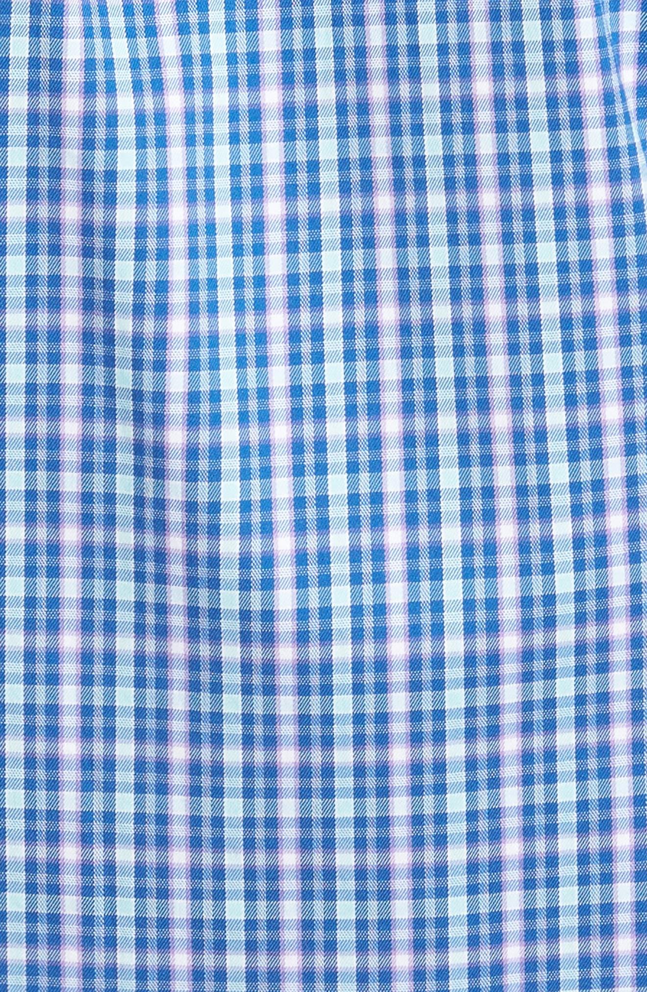 Crown Comfort Finch Multicheck Sport Shirt,                             Alternate thumbnail 5, color,                             422