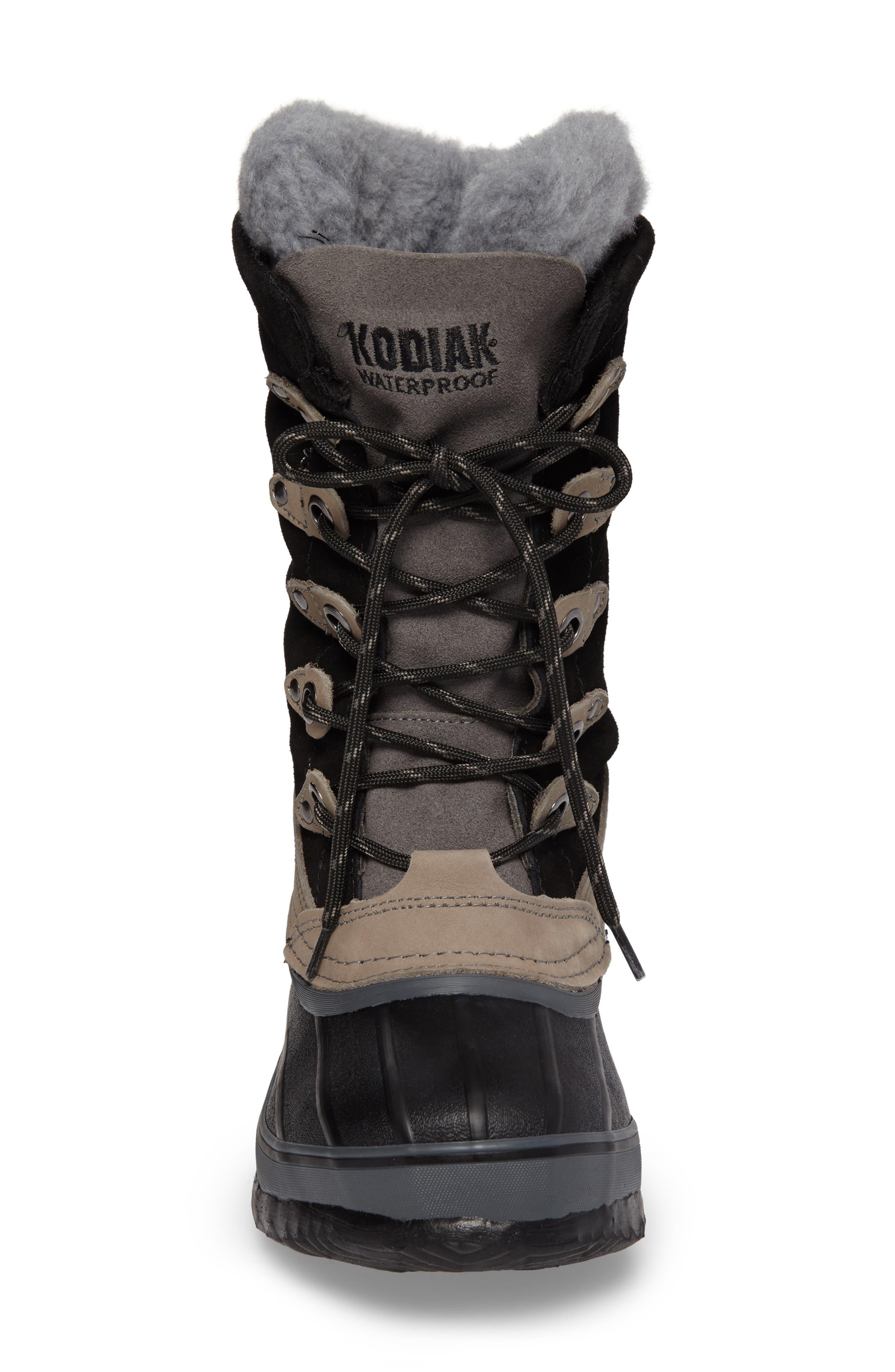 Kyra Waterproof Boot,                             Alternate thumbnail 4, color,                             001