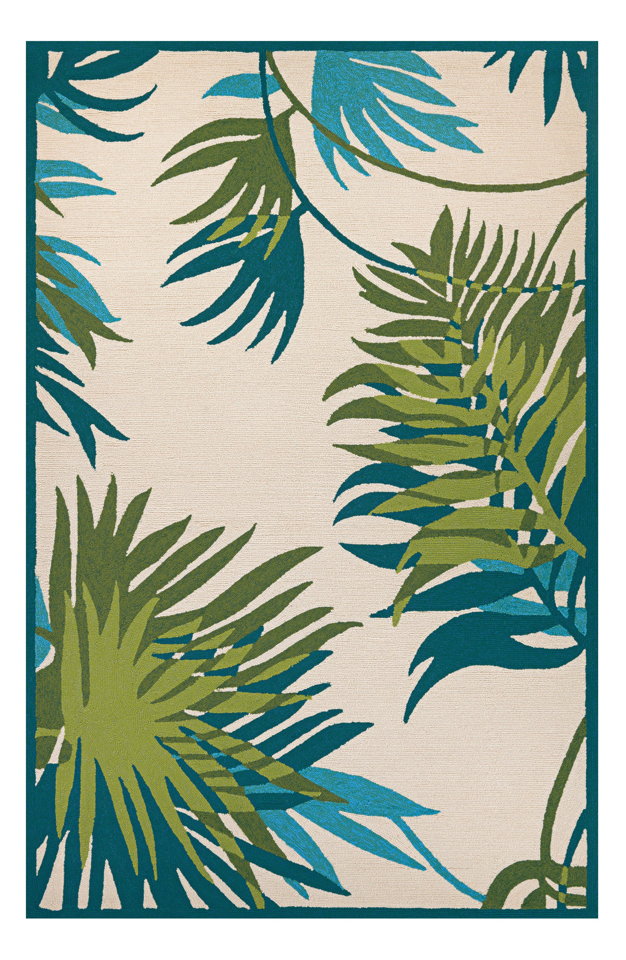 Jungle Leaves Indoor/Outdoor Rug,                             Alternate thumbnail 2, color,                             300