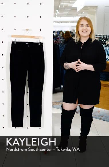Transcend - Hoxton High Waist Ultra Skinny Velvet Pants, sales video thumbnail