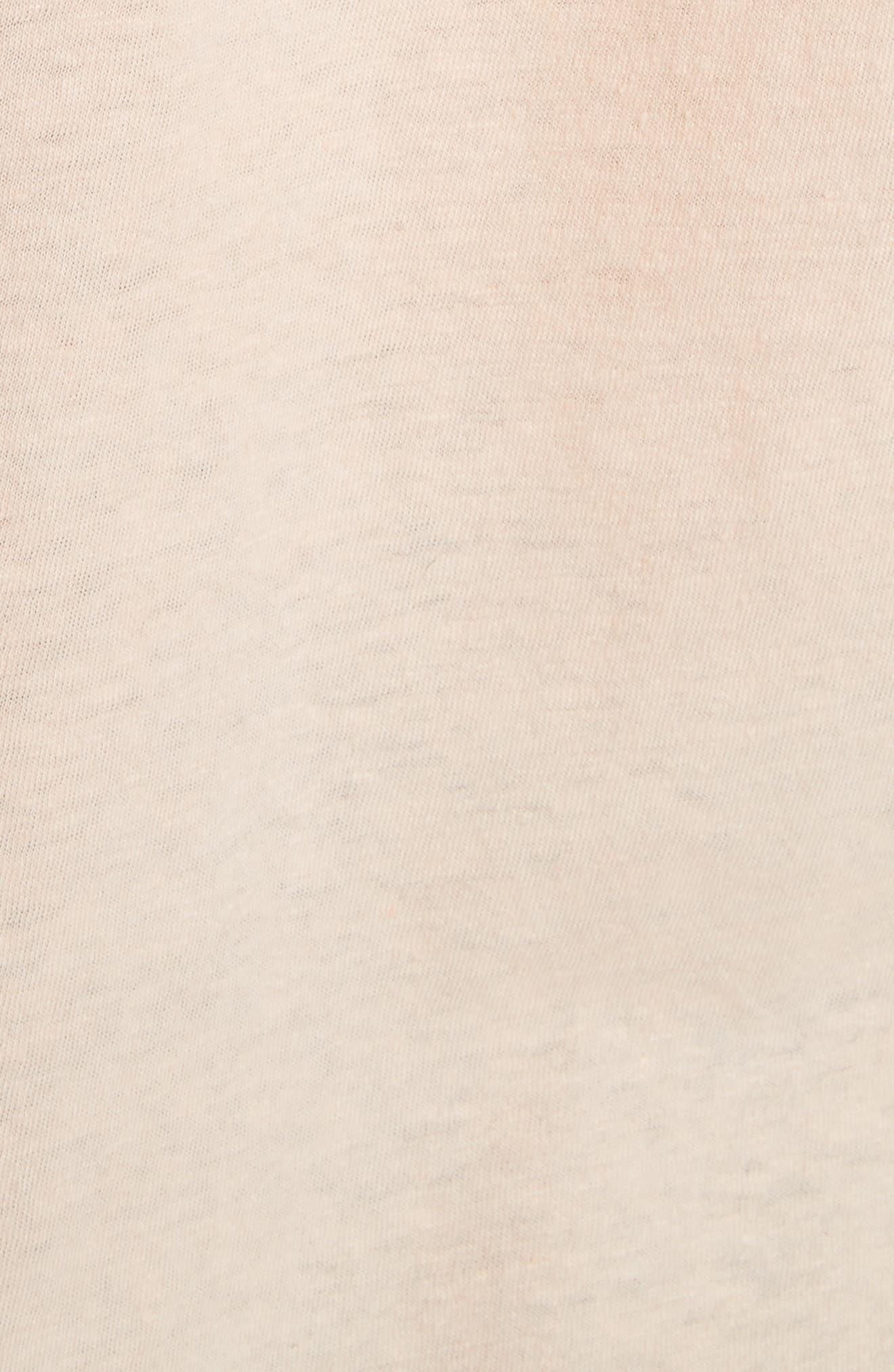 Linen & Cotton Ruffle Sleeve Tee,                             Alternate thumbnail 5, color,                             489