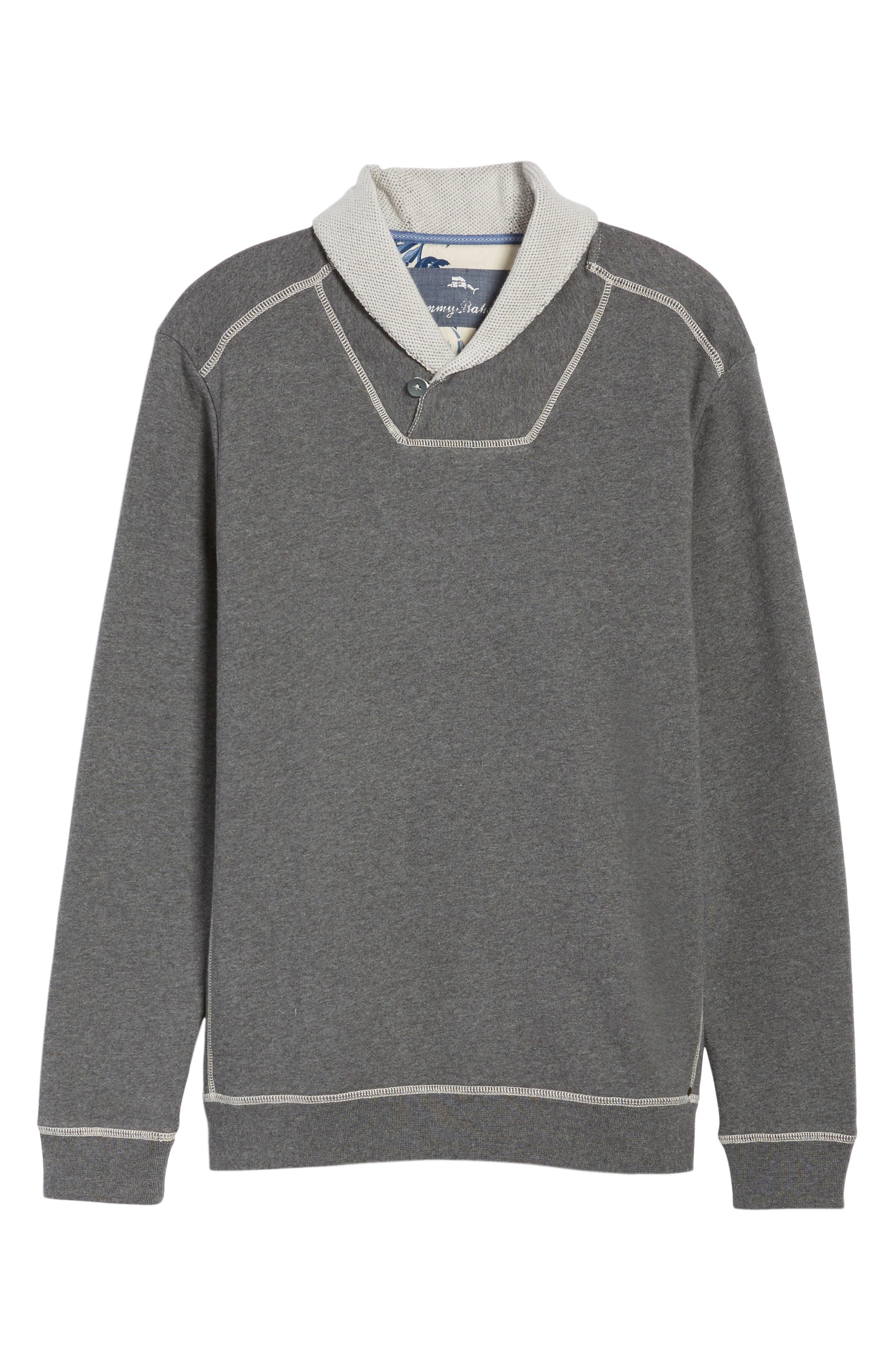 Shorecrest Shawl Collar Pullover,                             Alternate thumbnail 6, color,                             001