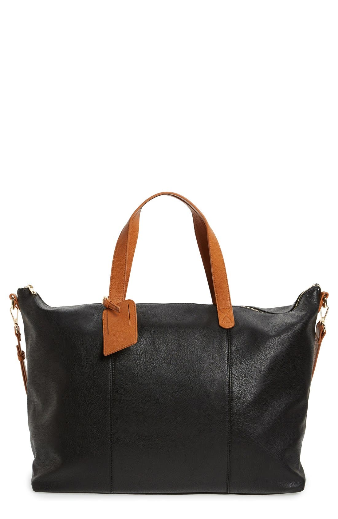 Candice Oversize Travel Tote,                             Main thumbnail 1, color,                             BLACK